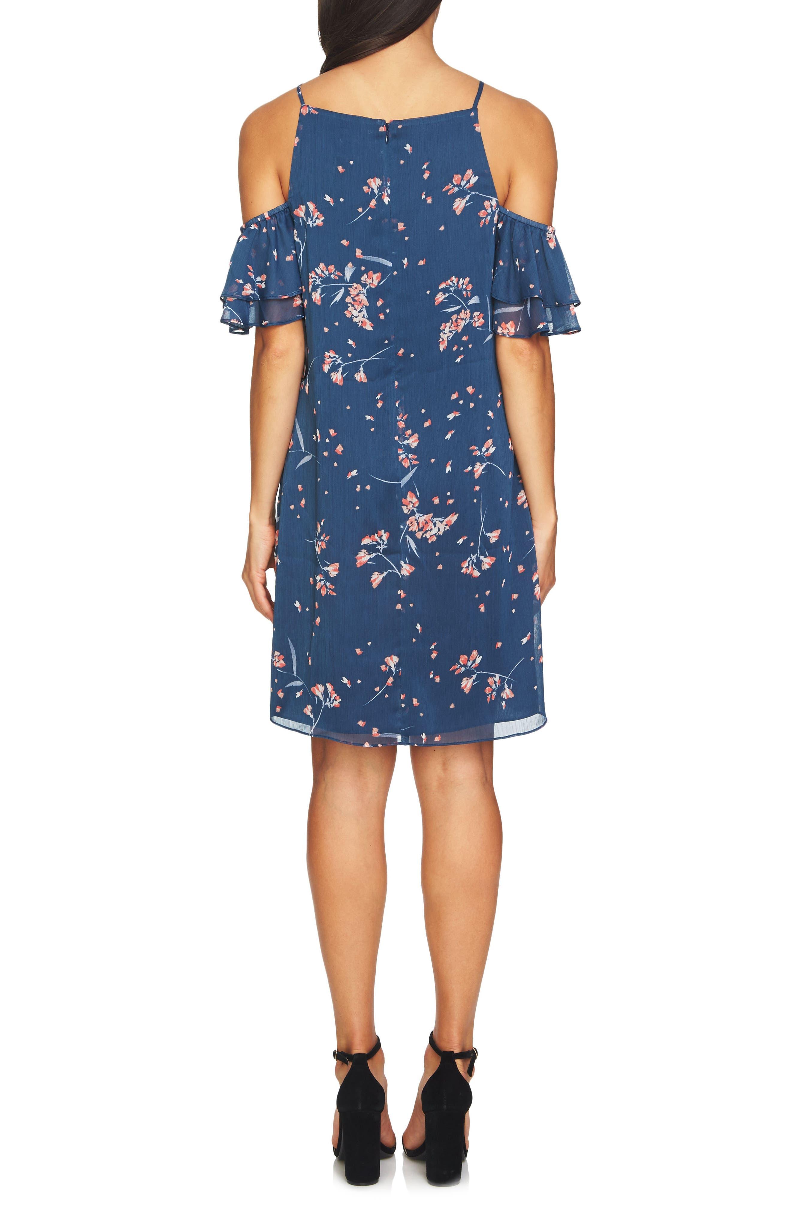 Nika Cold Shoulder Shift Dress,                             Alternate thumbnail 2, color,                             400