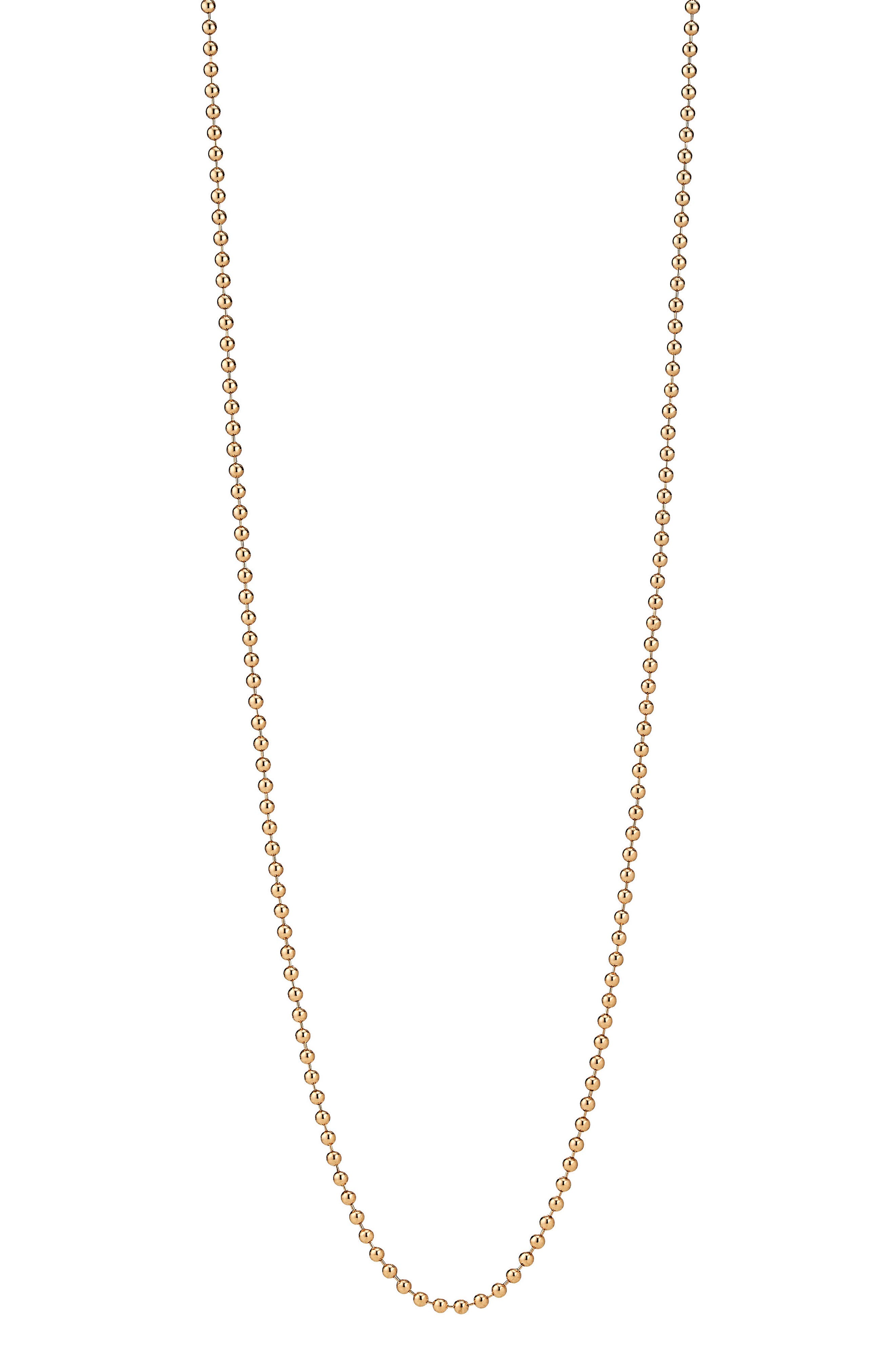 Beaded Chain Necklace,                         Main,                         color, GOLD