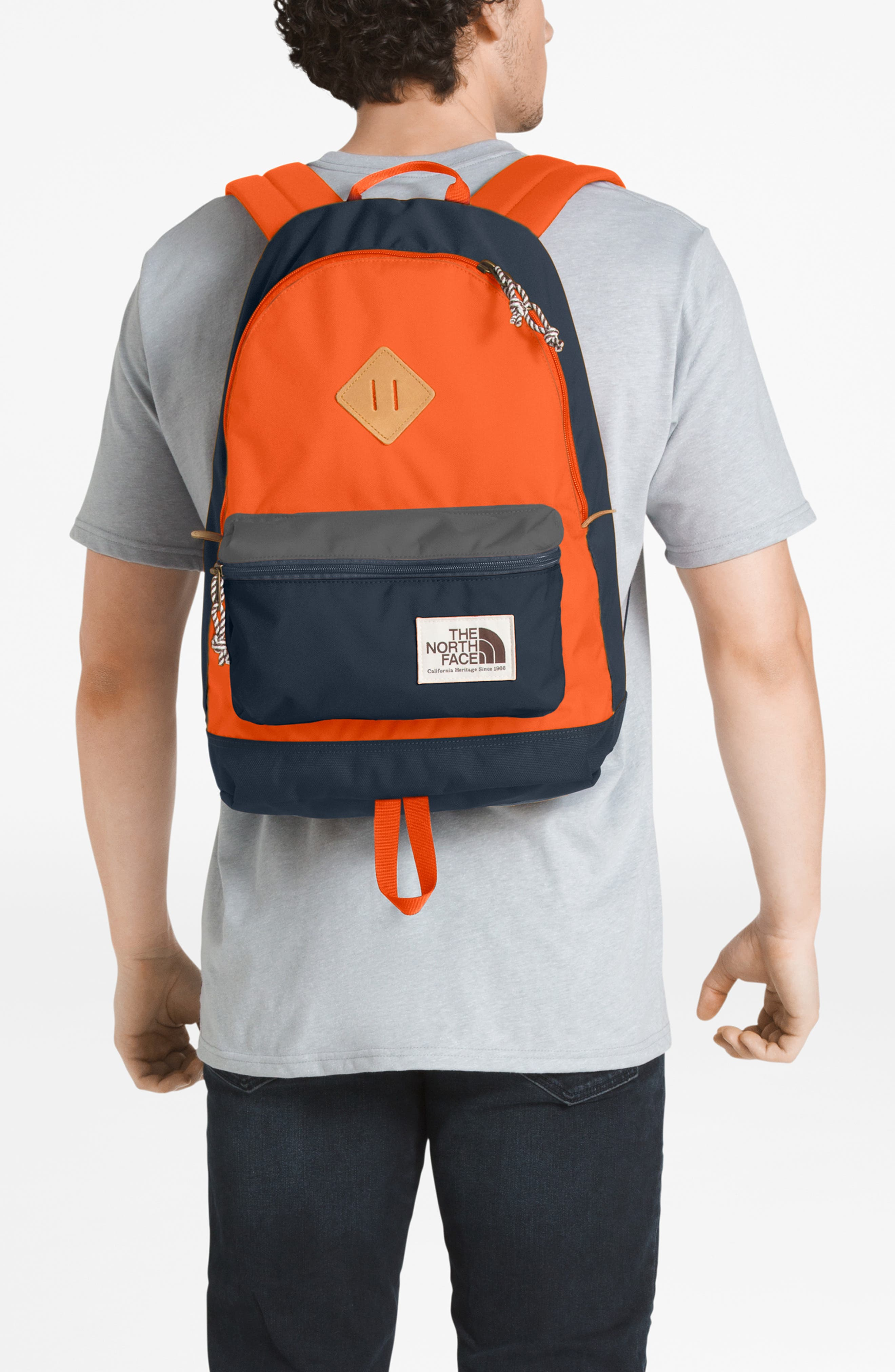 THE NORTH FACE Berkeley 25-Liter Backpack, Main, color, URBAN NAVY/PERSIAN ORANGE