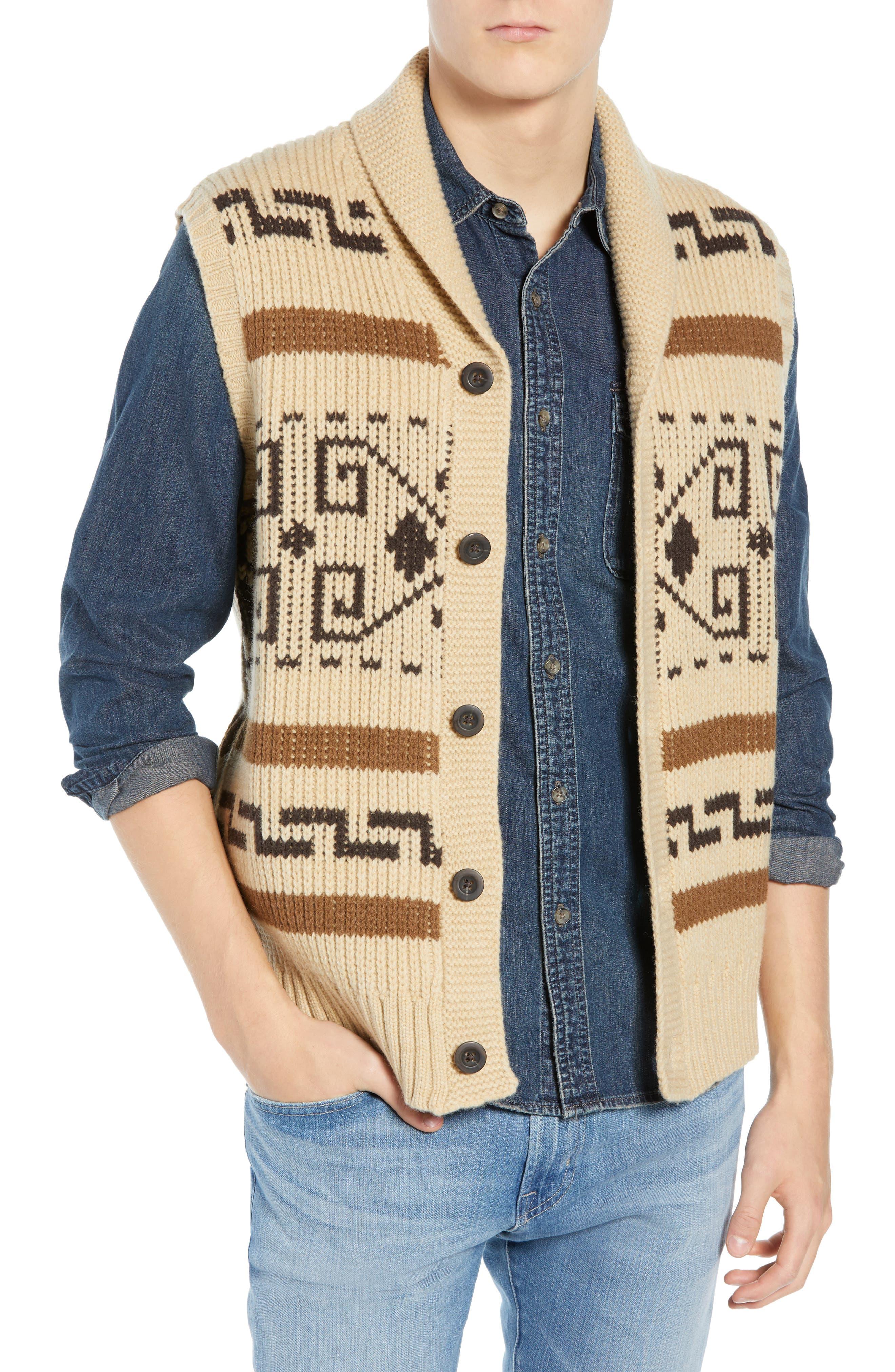 Original Westerley Sweater Vest,                         Main,                         color, TAN/ BROWN