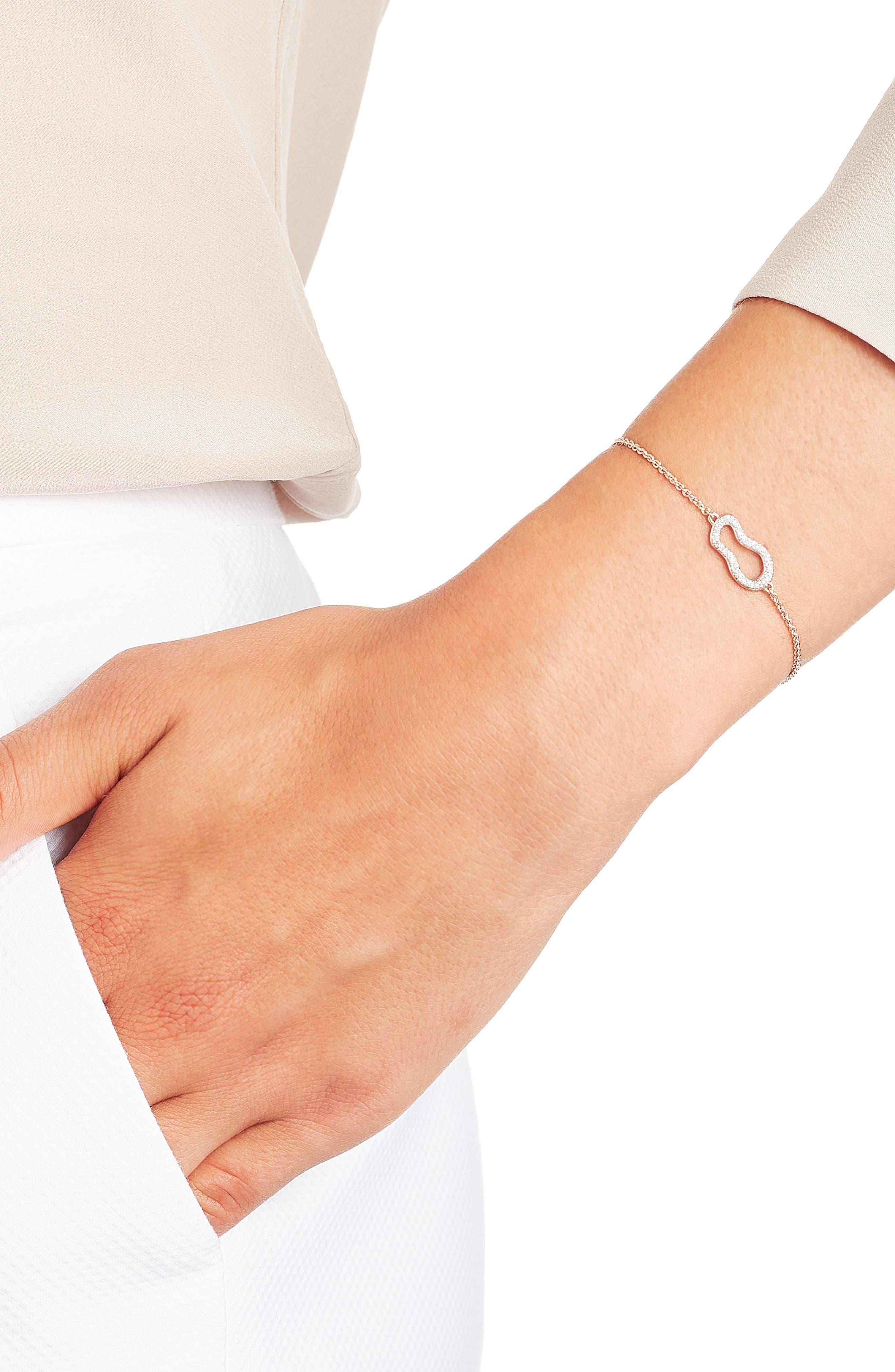 Riva Diamond Bracelet,                             Alternate thumbnail 3, color,                             ROSE GOLD/ DIAMOND