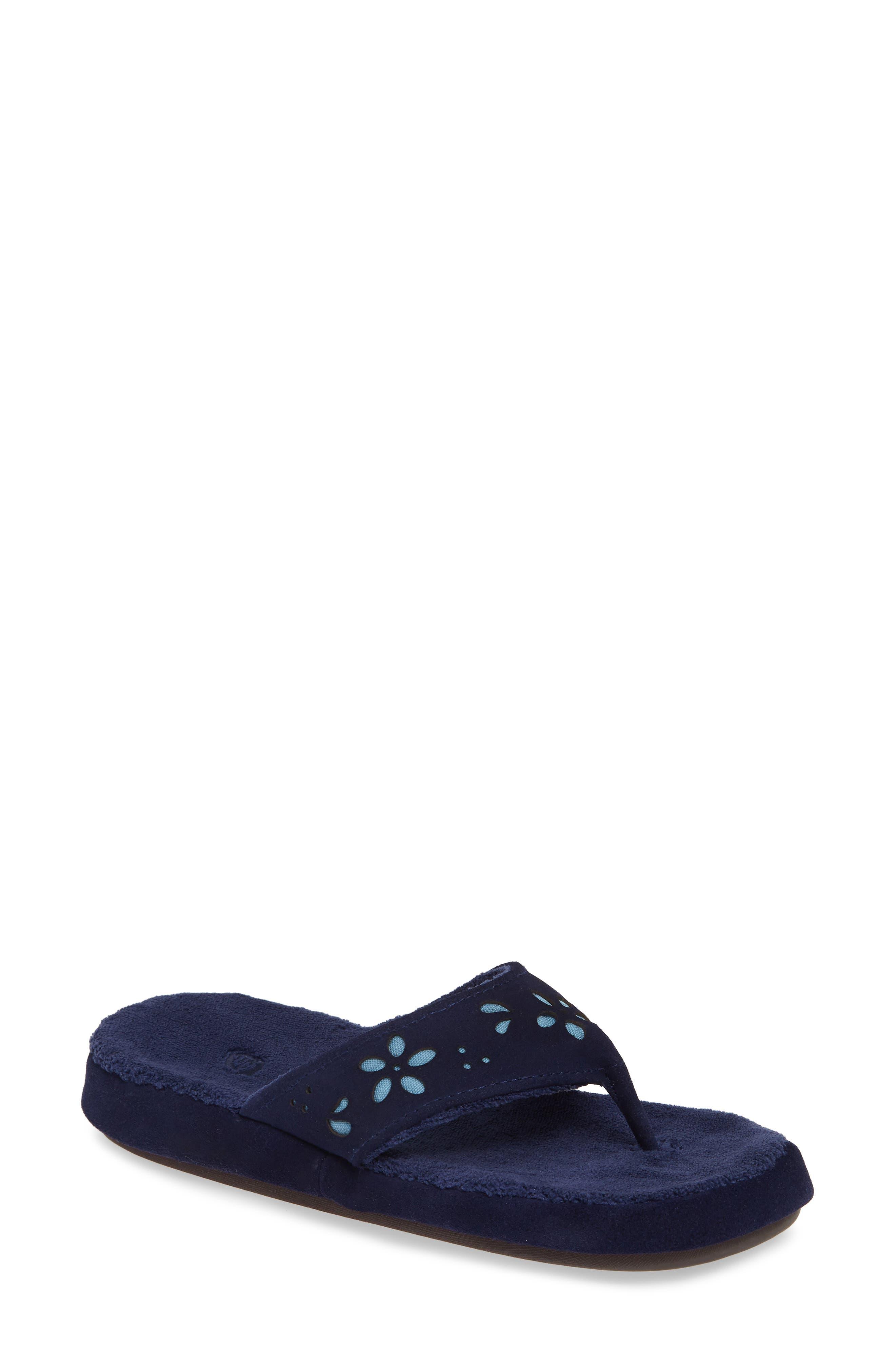 Acorn Flora Spa Flip Flop, Blue