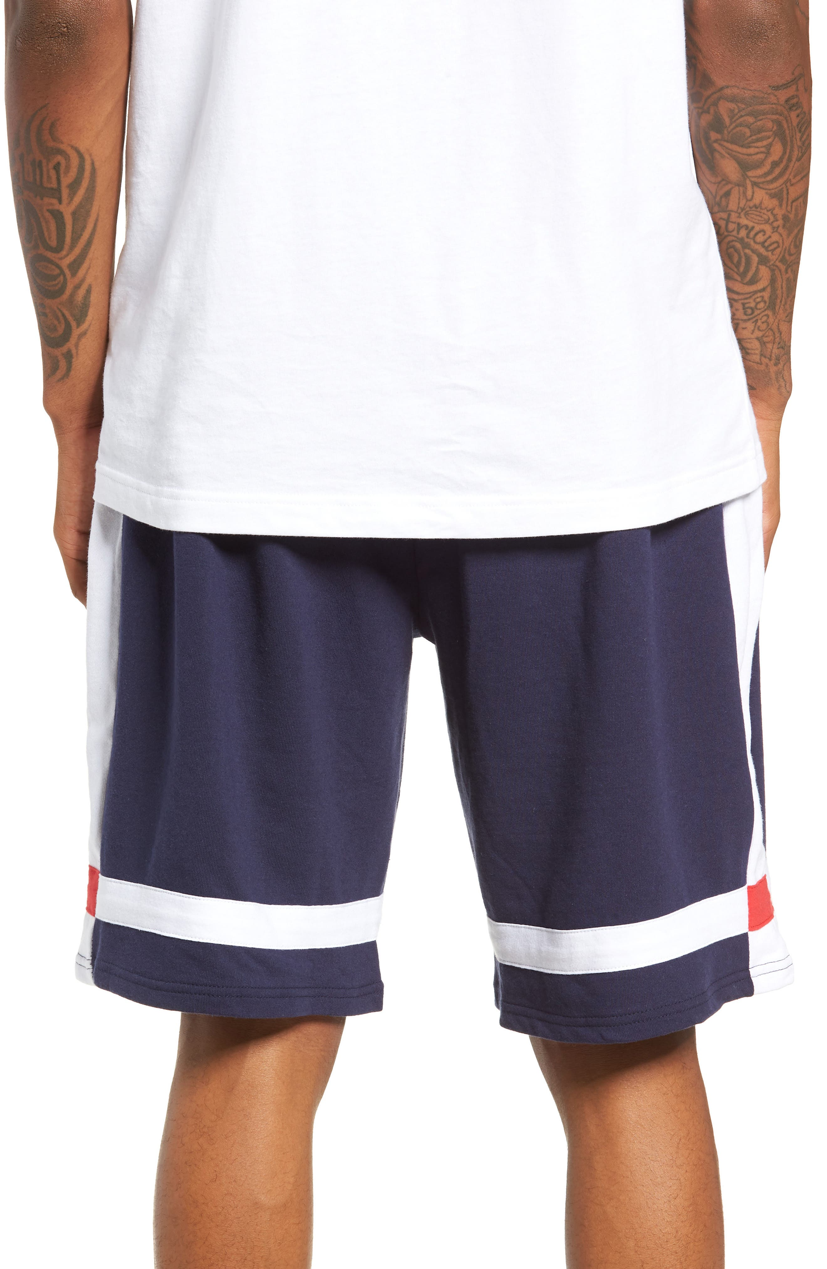 Striped Athletic Shorts,                             Alternate thumbnail 2, color,                             410