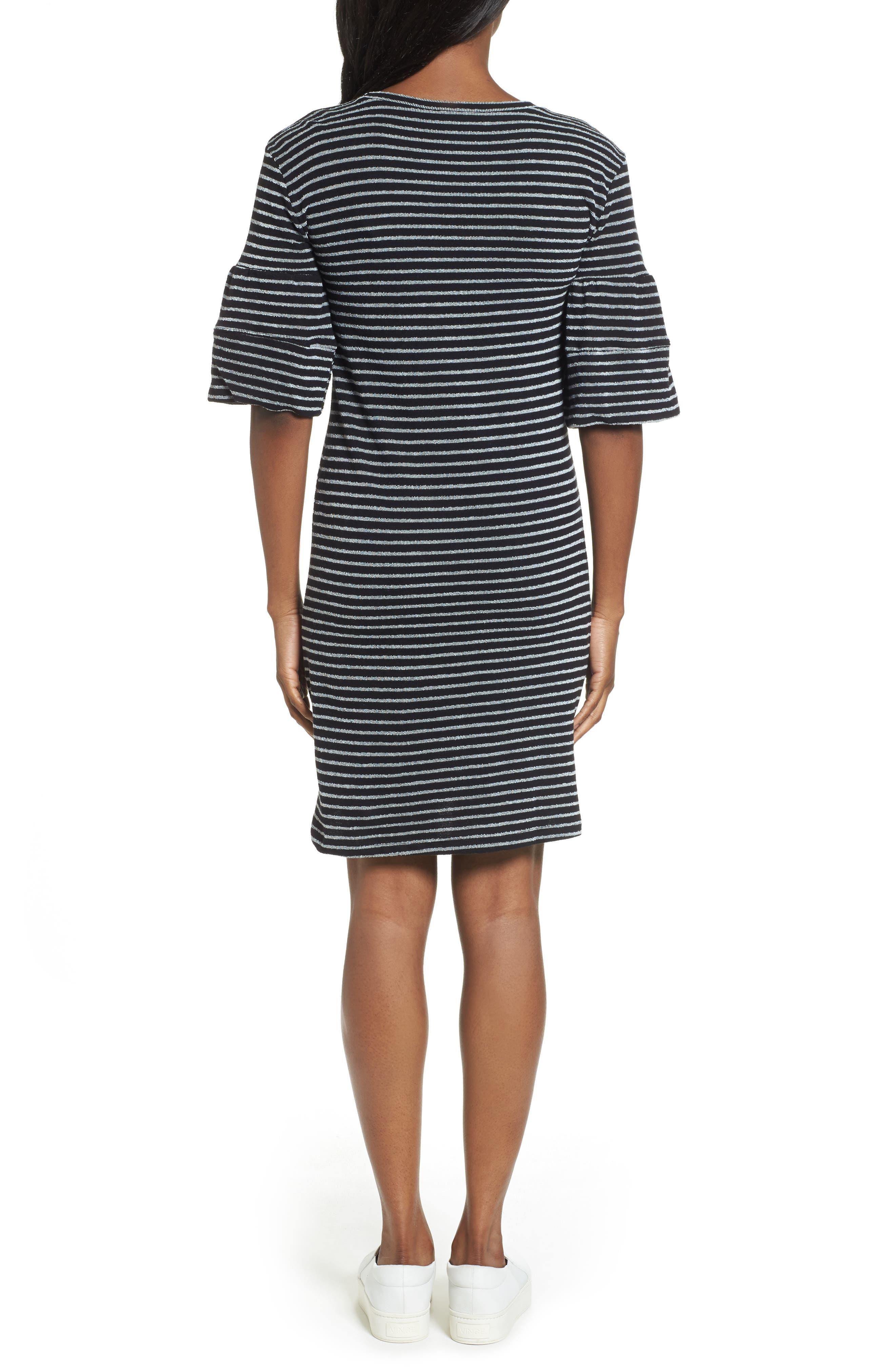 Ruffle Sleeve Knit Dress,                             Alternate thumbnail 5, color,