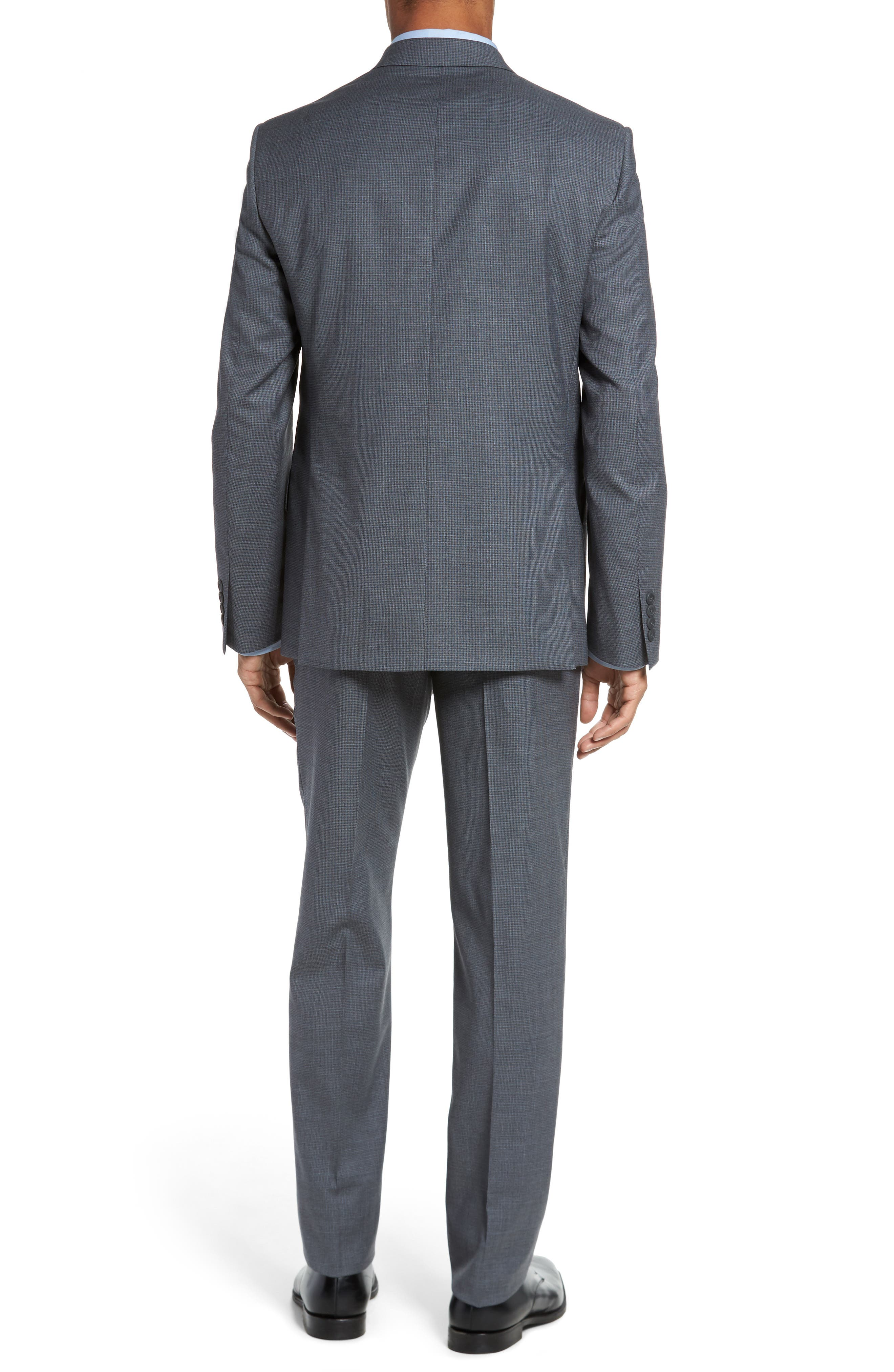Classic Fit Check Wool Suit,                             Alternate thumbnail 5, color,