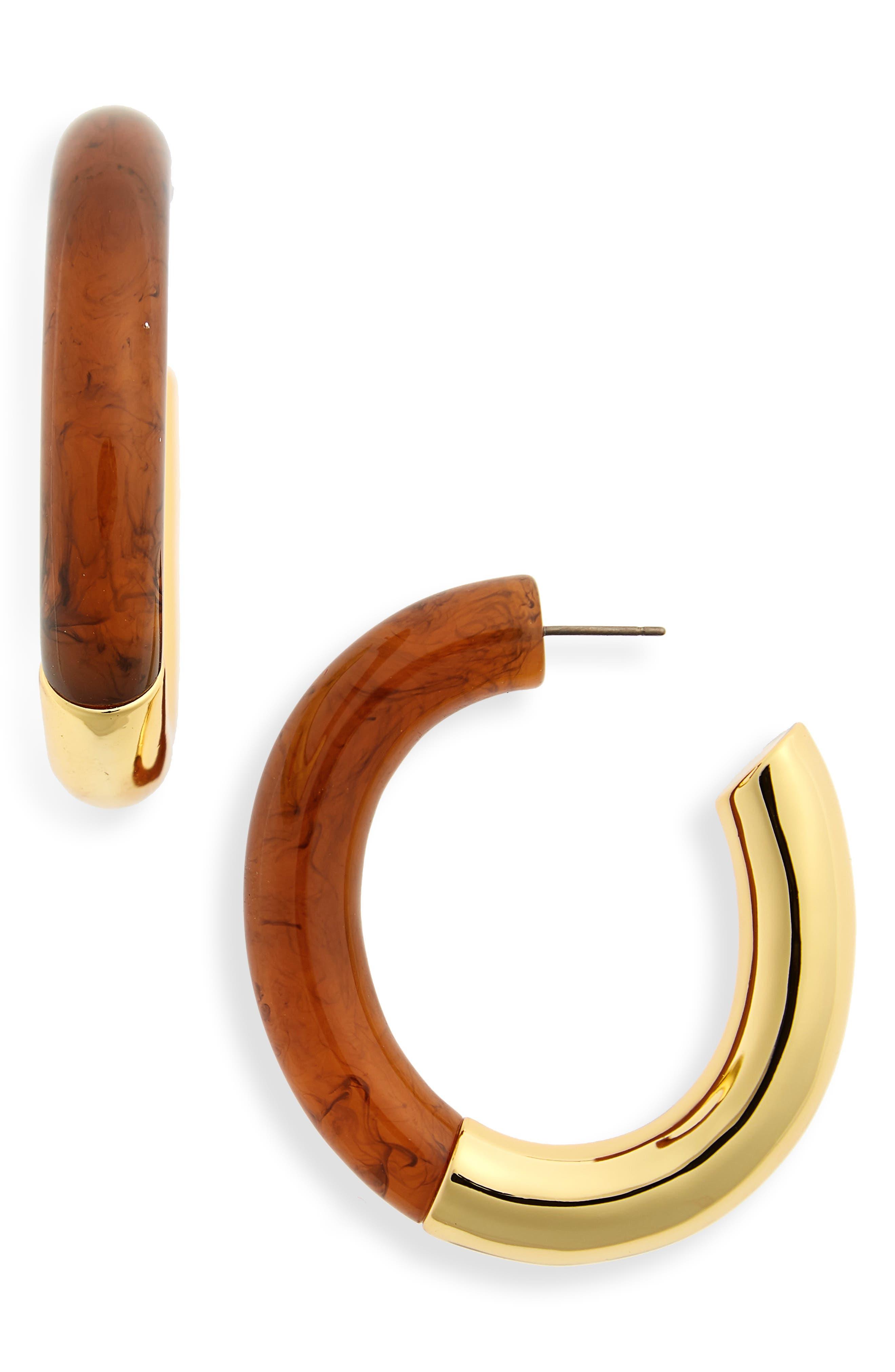 LIZZIE FORTUNATO Summer of Love Hoop Earrings, Main, color, 200