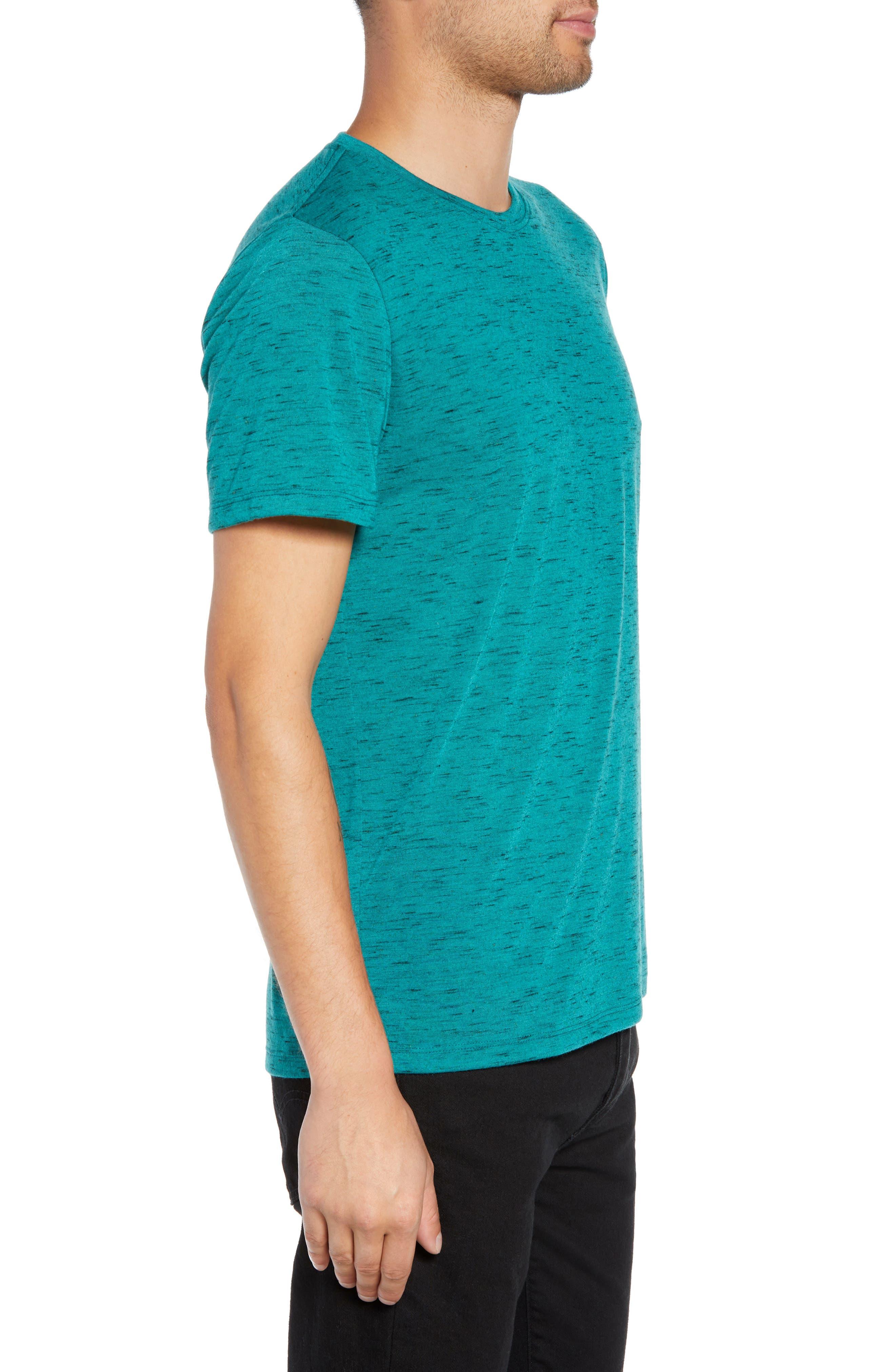 Streaky T-Shirt,                             Alternate thumbnail 3, color,                             TEAL GREEN- BLACK