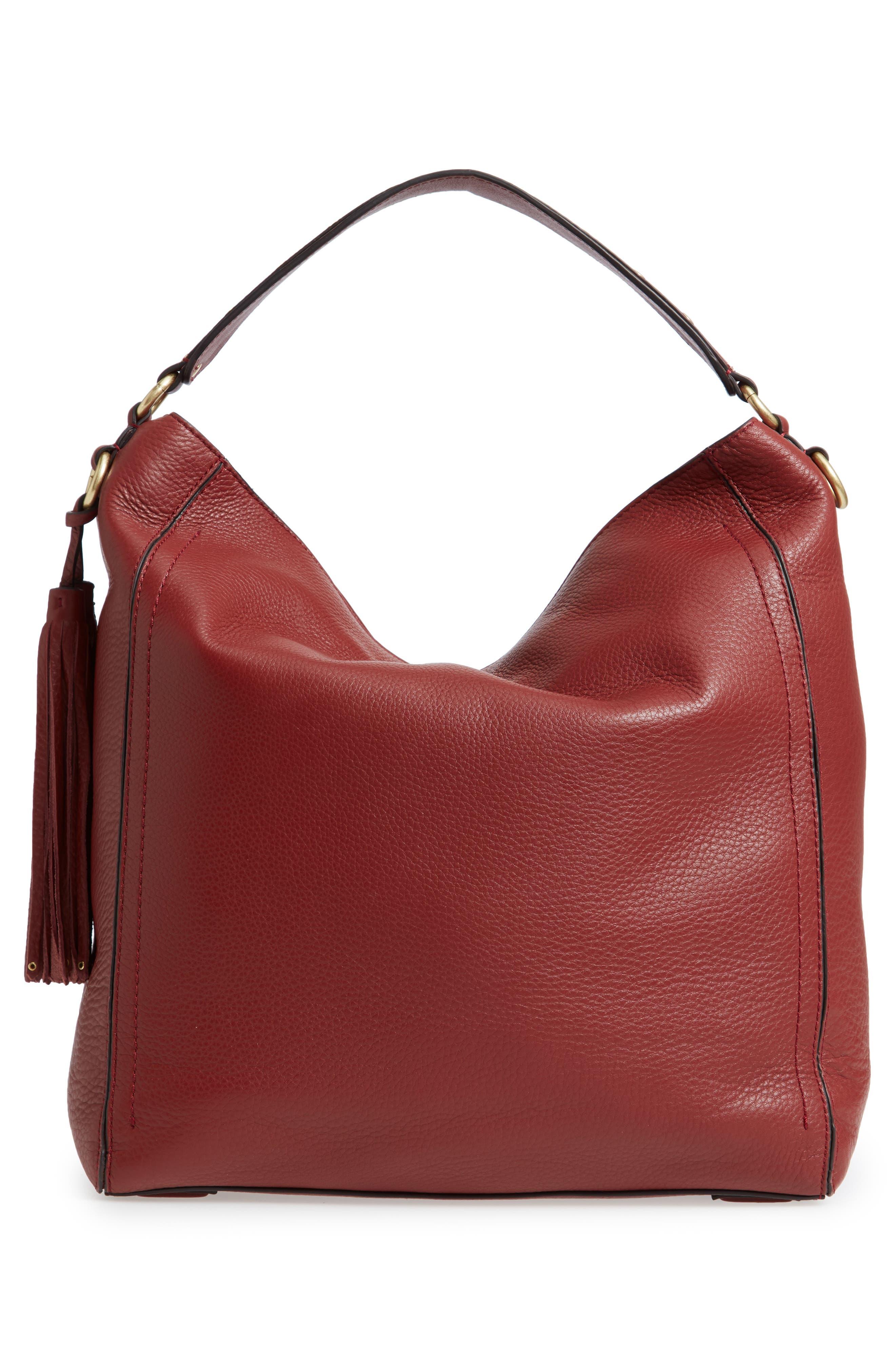 Cassidy RFID Pebbled Leather Bucket Bag,                             Alternate thumbnail 10, color,