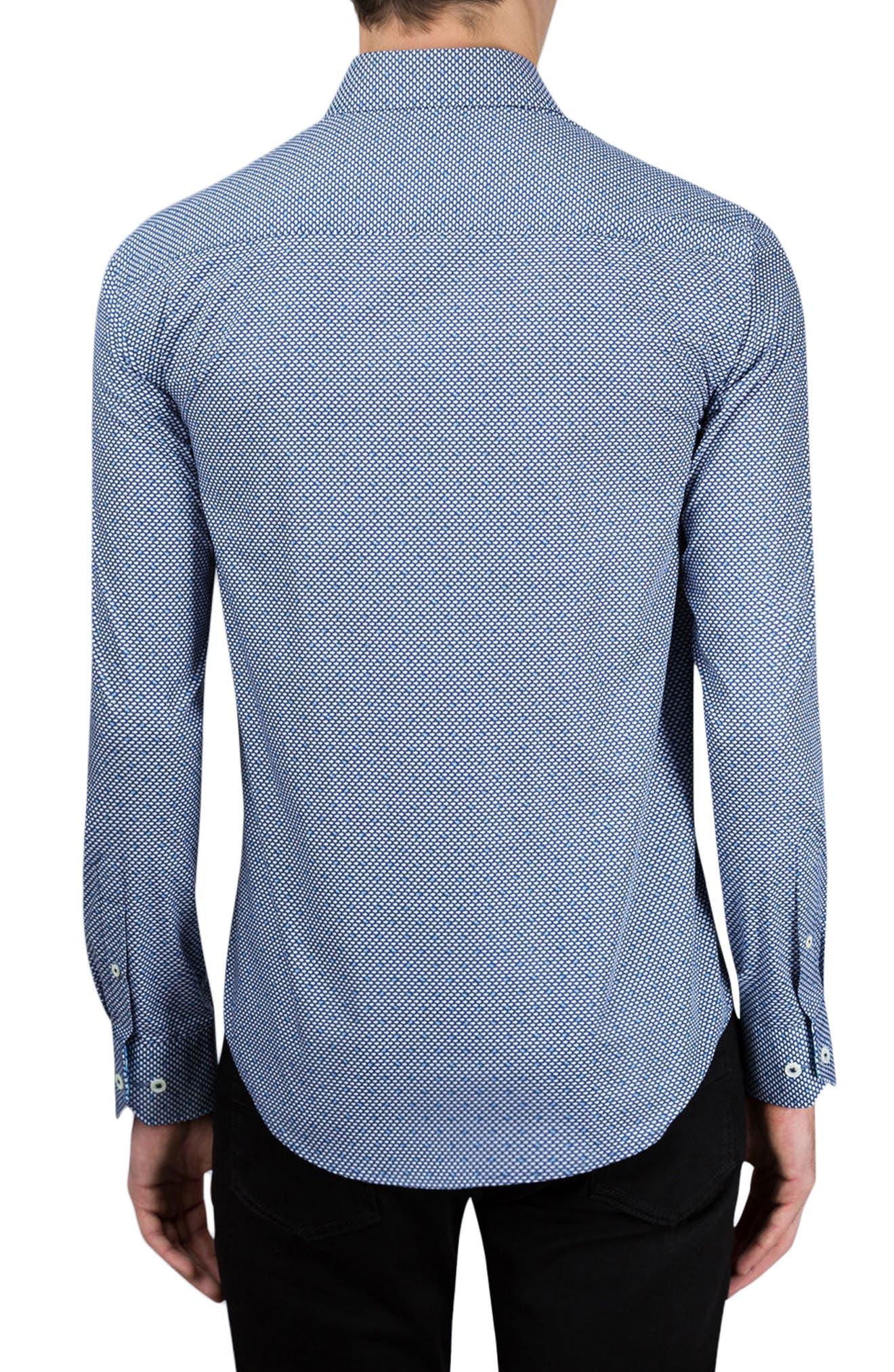 Shaped Fit Sport Shirt,                             Alternate thumbnail 2, color,                             411