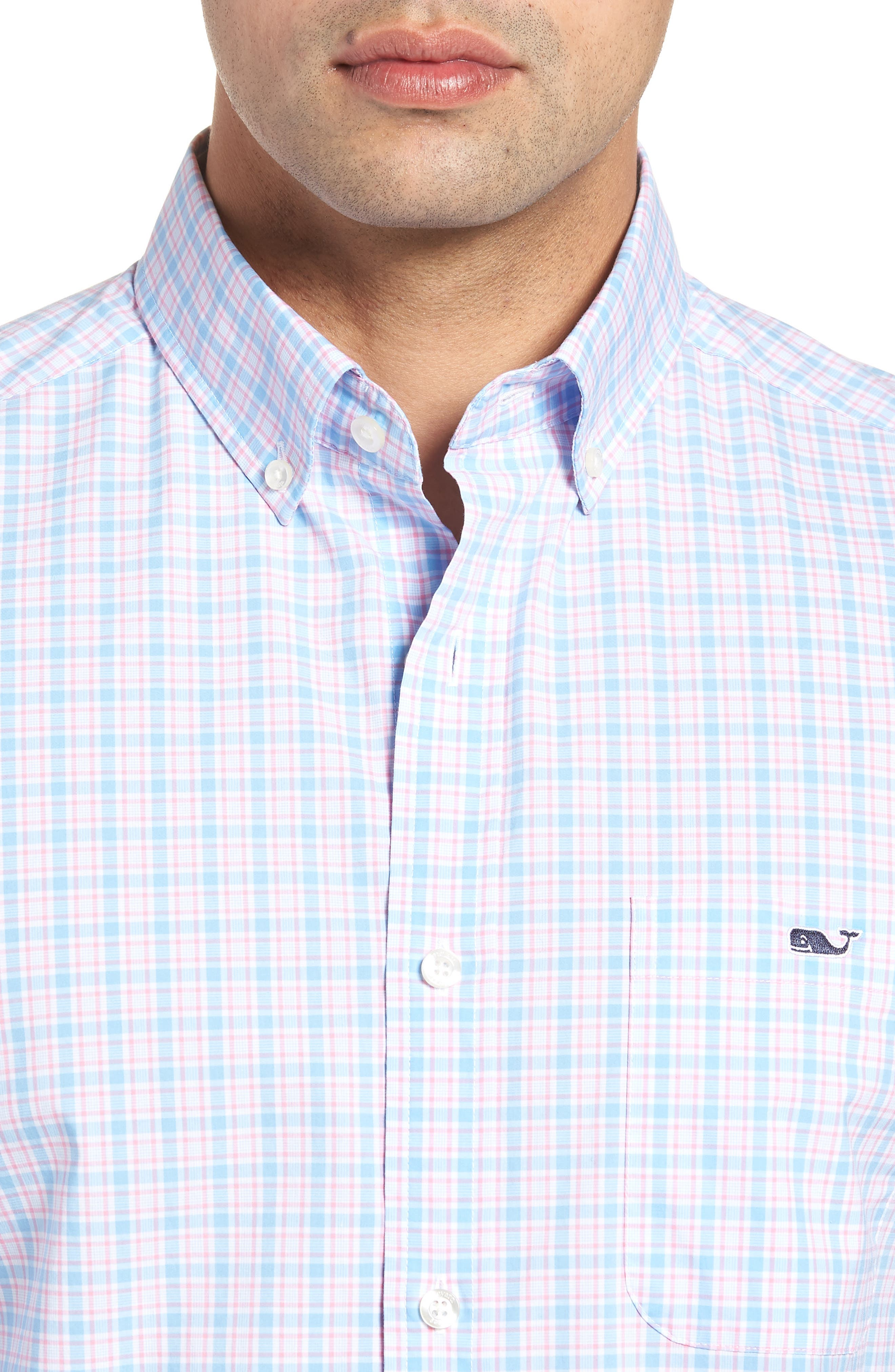 Captain Lyford Classic Fit Stretch Check Sport Shirt,                             Alternate thumbnail 4, color,                             484