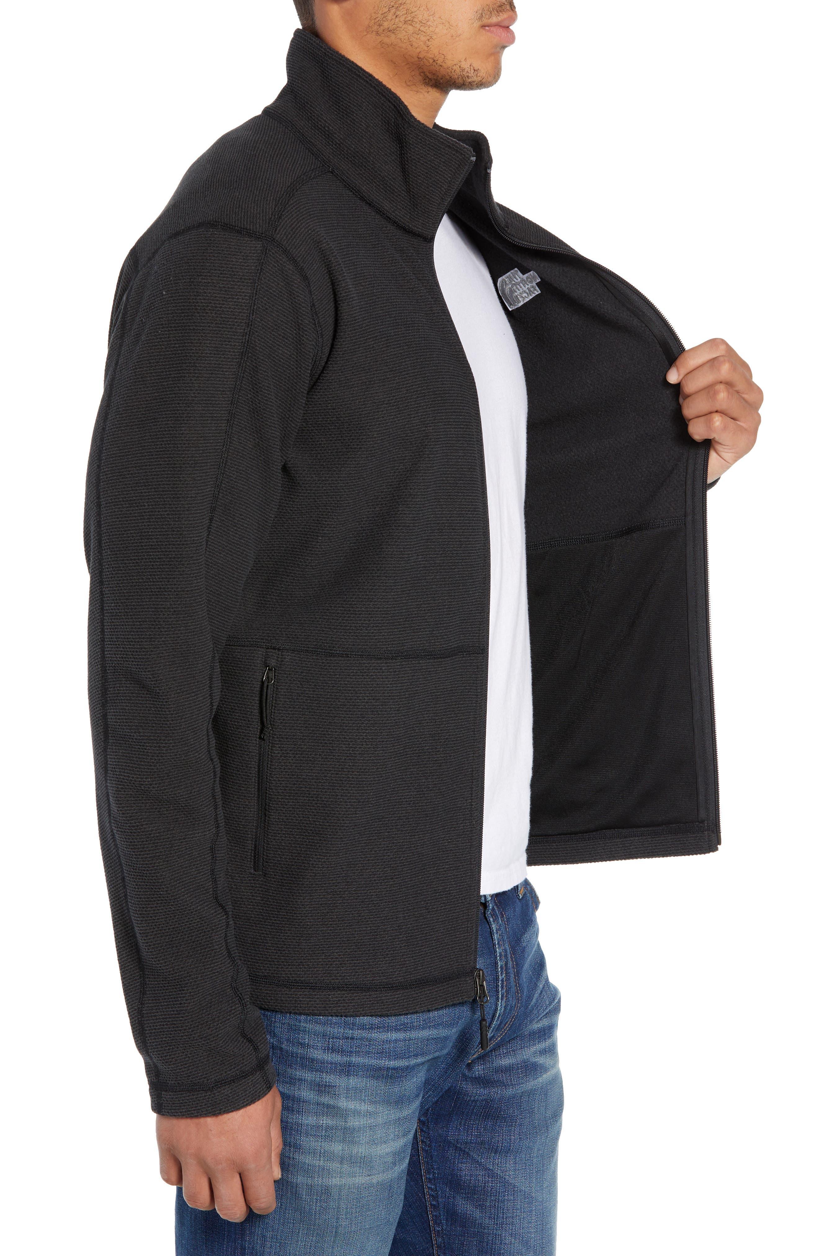Texture Cap Rock Fleece Jacket,                             Alternate thumbnail 3, color,                             TNF BLACK