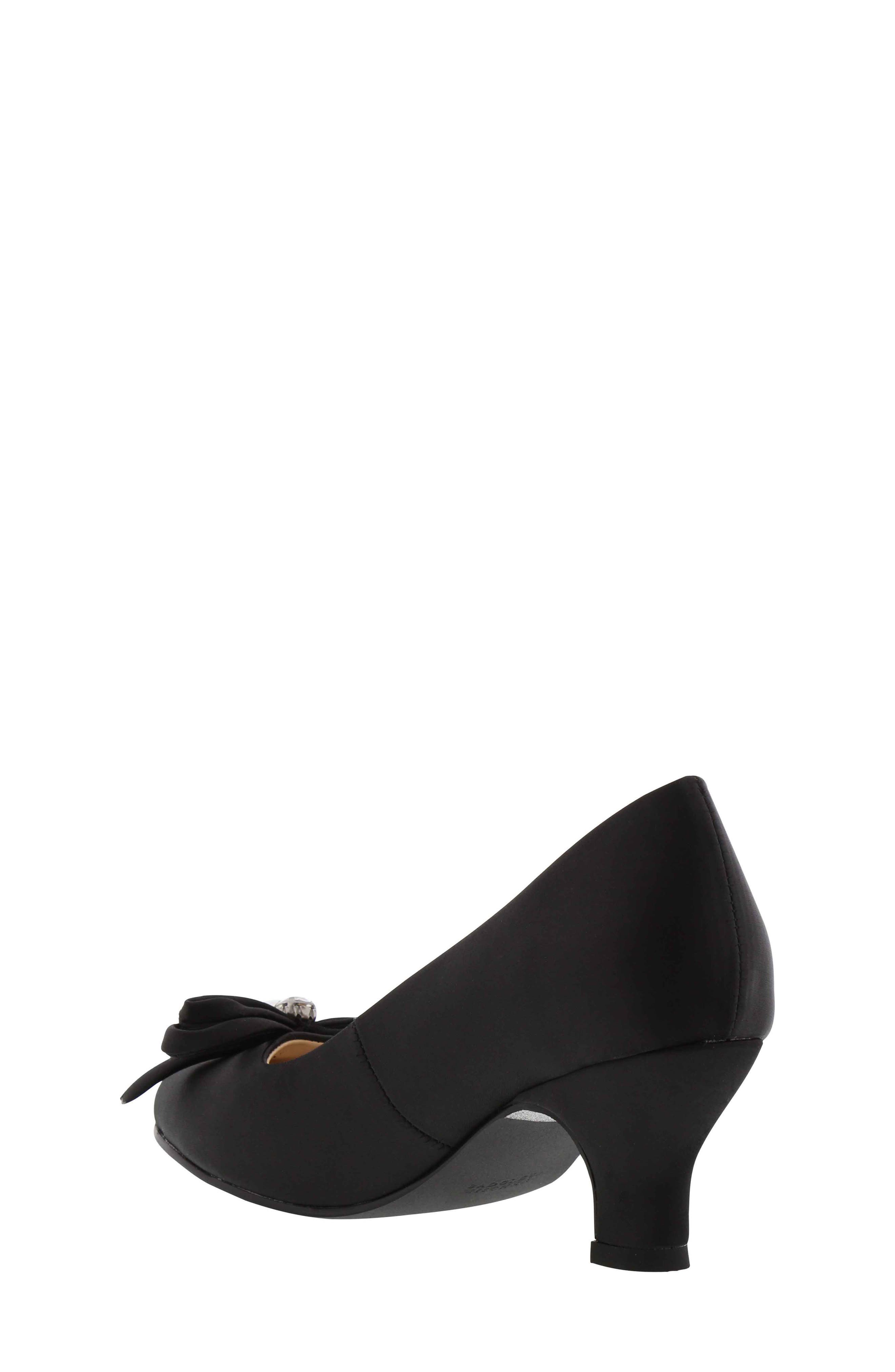 BADGLEY MISCHKA COLLECTION,                             Badgley Mischka Milah Embellished Bow Pump,                             Alternate thumbnail 2, color,                             BLACK