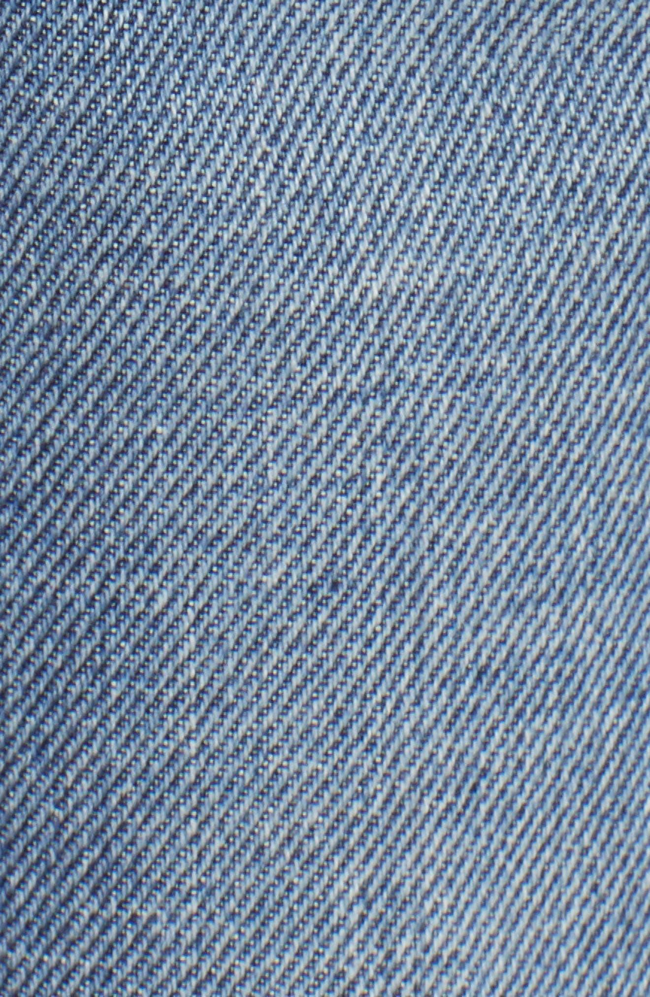 Joan High Waist Crop Wide Leg Jeans,                             Alternate thumbnail 6, color,                             409