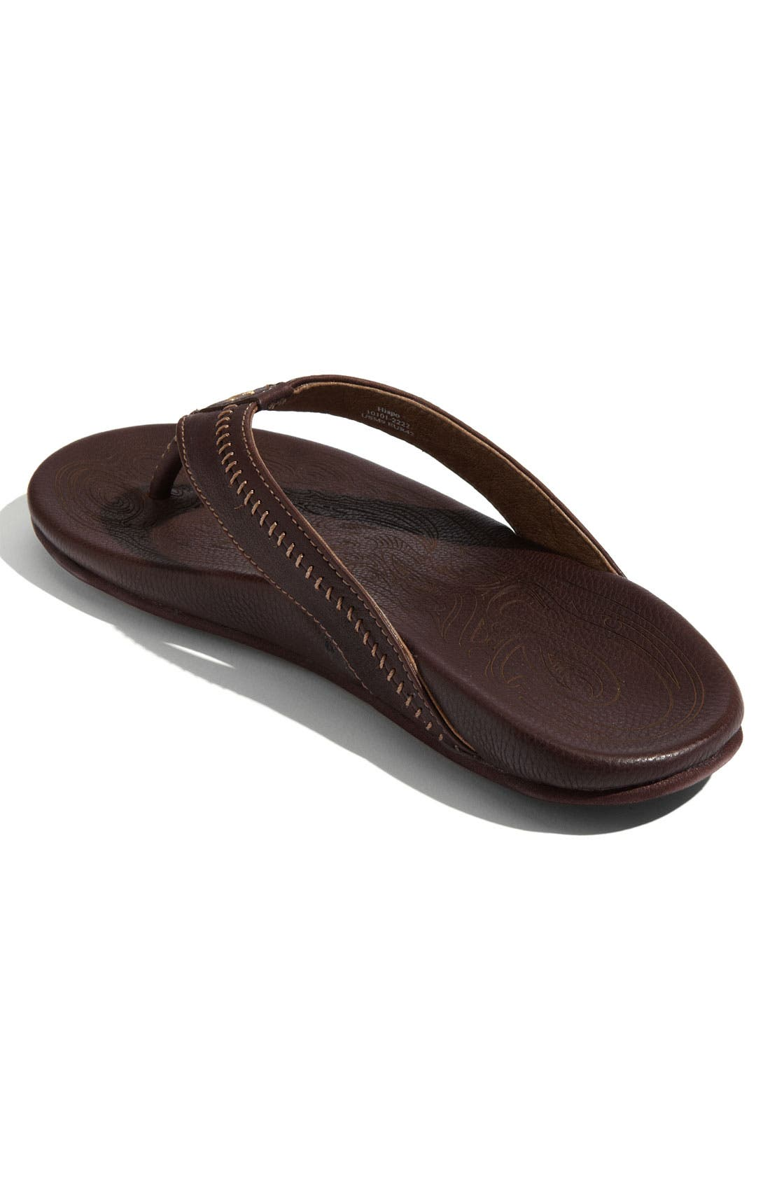 OLUKAI,                             'Hiapo' Flip Flop,                             Alternate thumbnail 3, color,                             TEAK/ TEAK