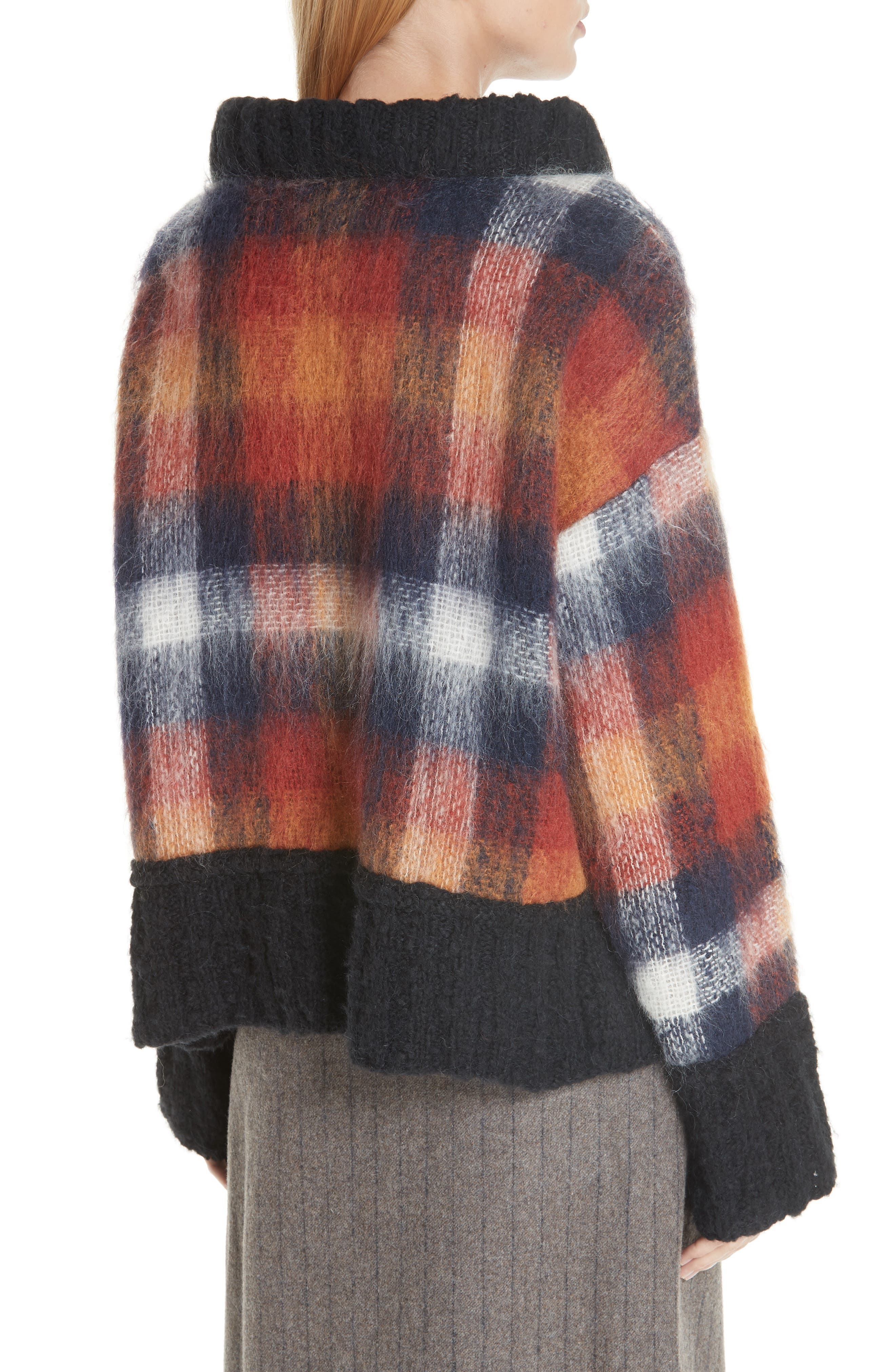 Maryam Mohair & Wool Blend Sweater,                             Alternate thumbnail 2, color,                             PLAID MULTI