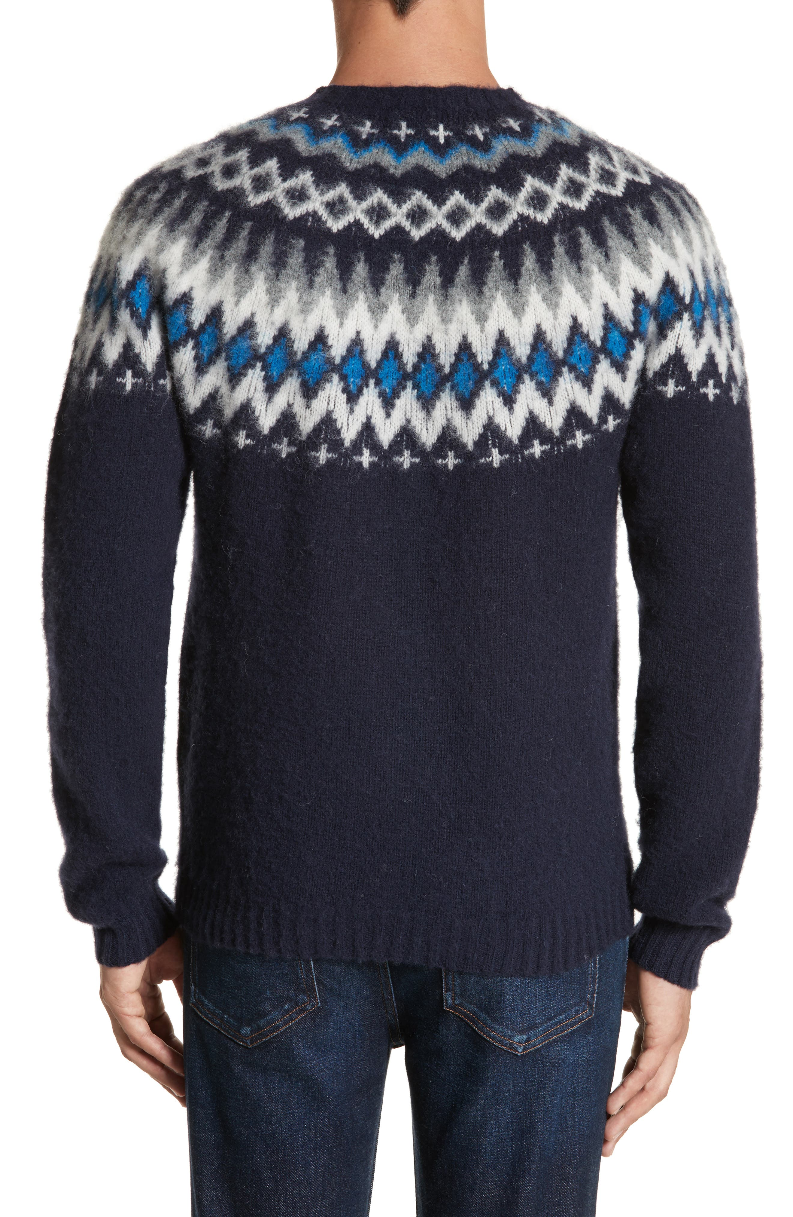 Nirnir Fair Isle Lambswool Sweater,                             Alternate thumbnail 2, color,                             410