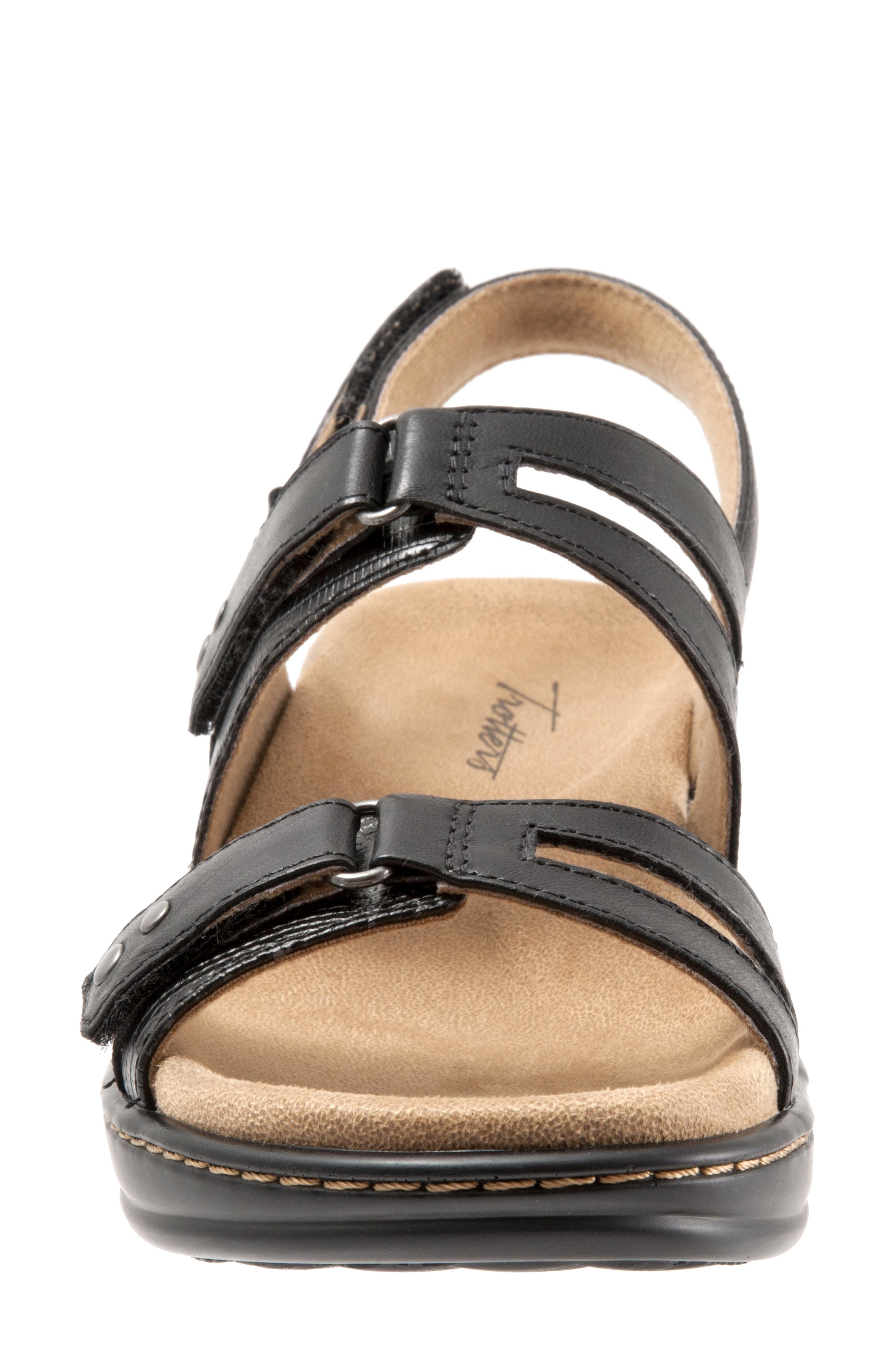 Newton Sandal,                             Alternate thumbnail 4, color,                             BLACK LEATHER