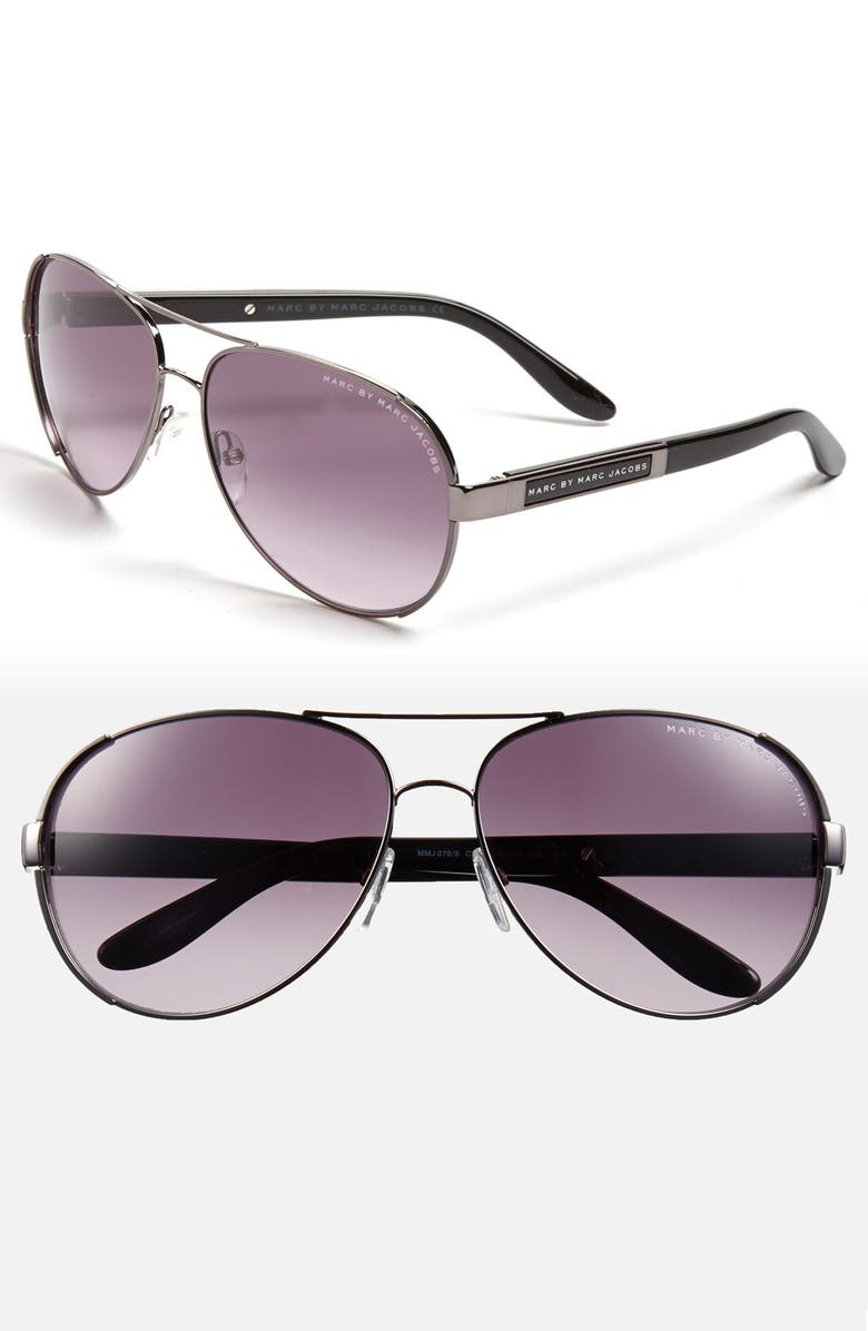 f11bc6bb22 MARC BY MARC JACOBS 60mm Stainless Steel Aviator Sunglasses
