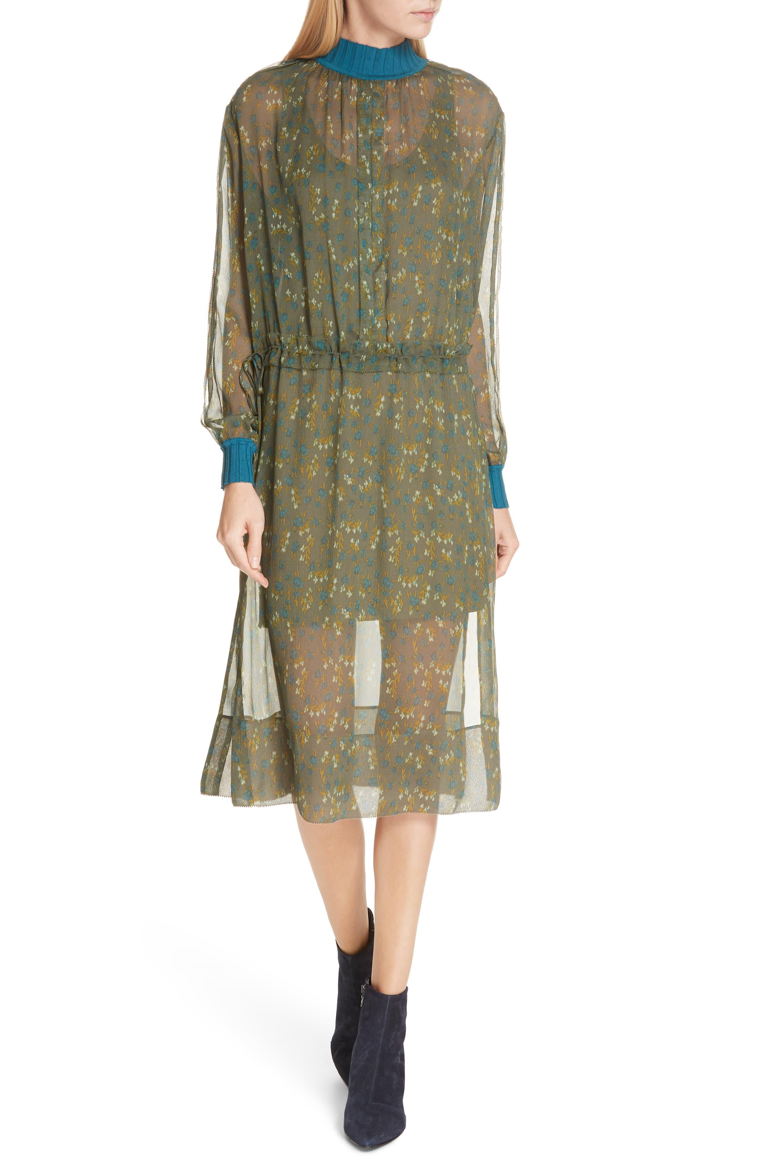 Rag & Bone Dinah Silk Dress, Green