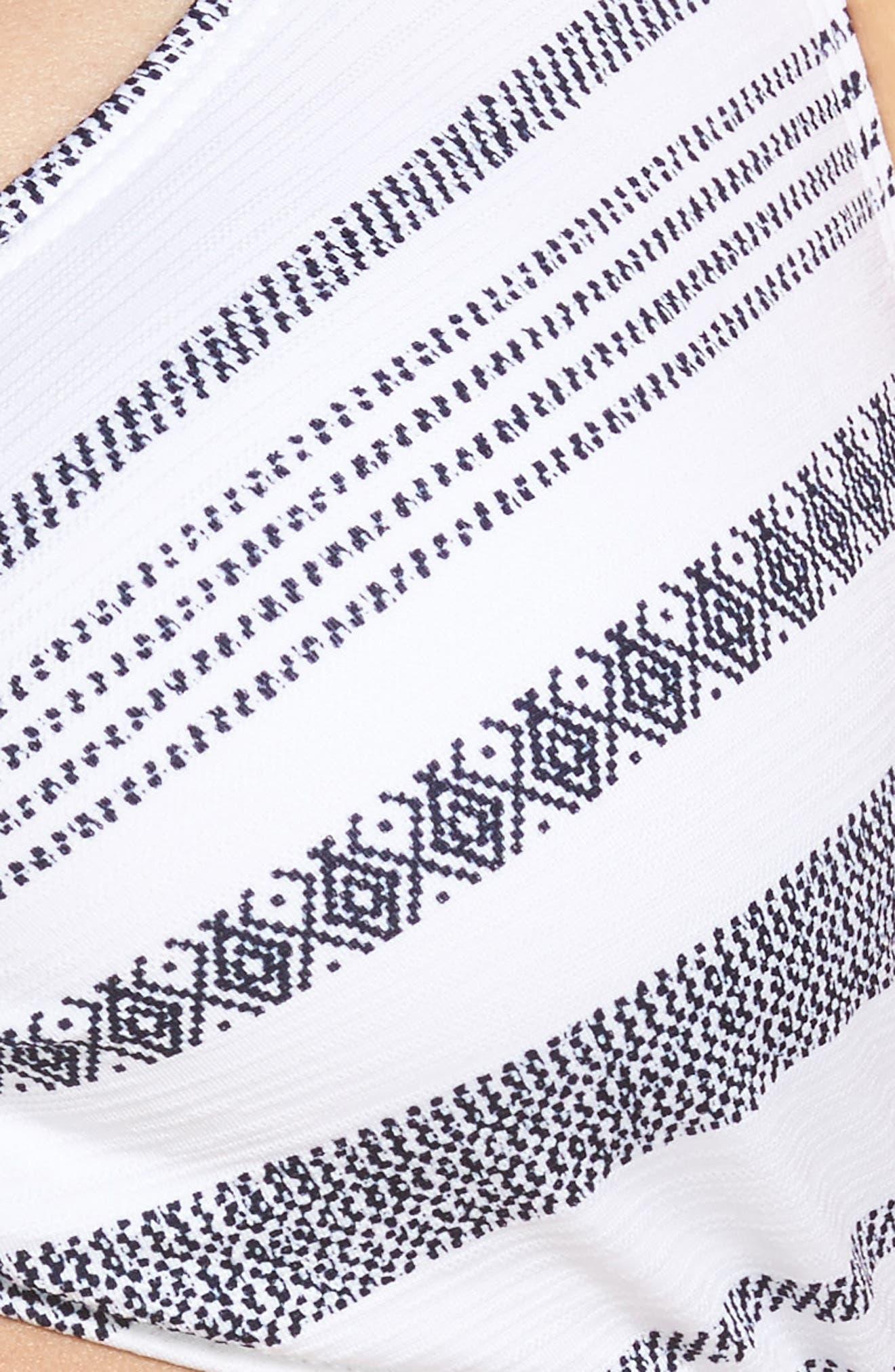 Sand Bar Stripe Underwire Bikini Top,                             Alternate thumbnail 5, color,                             100