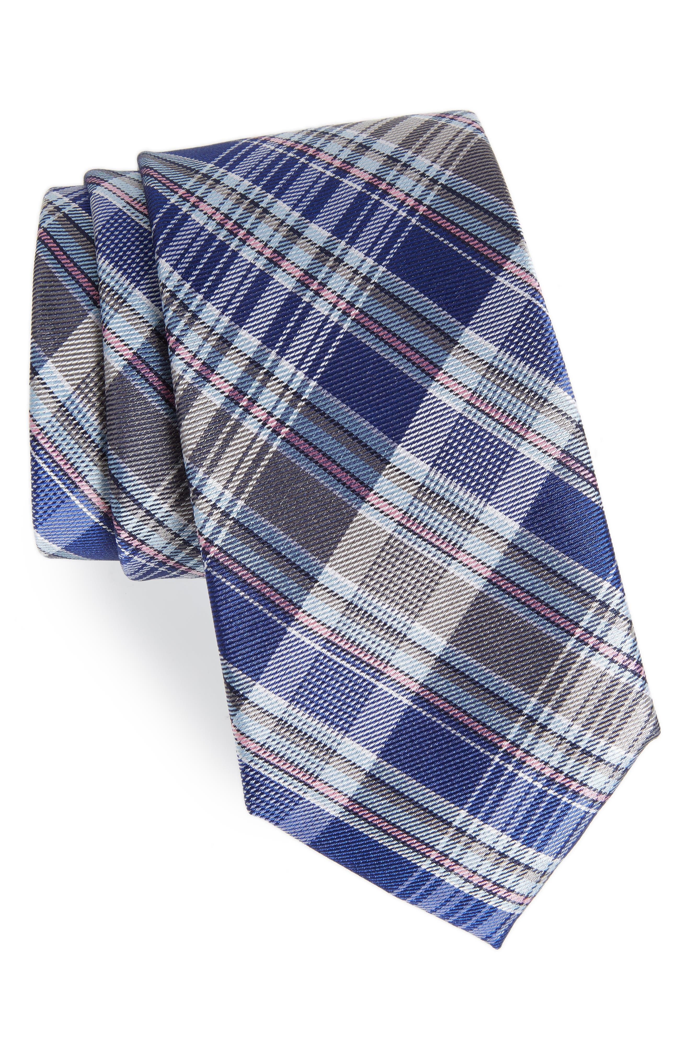 Sassafrass Plaid Silk Tie,                             Main thumbnail 4, color,