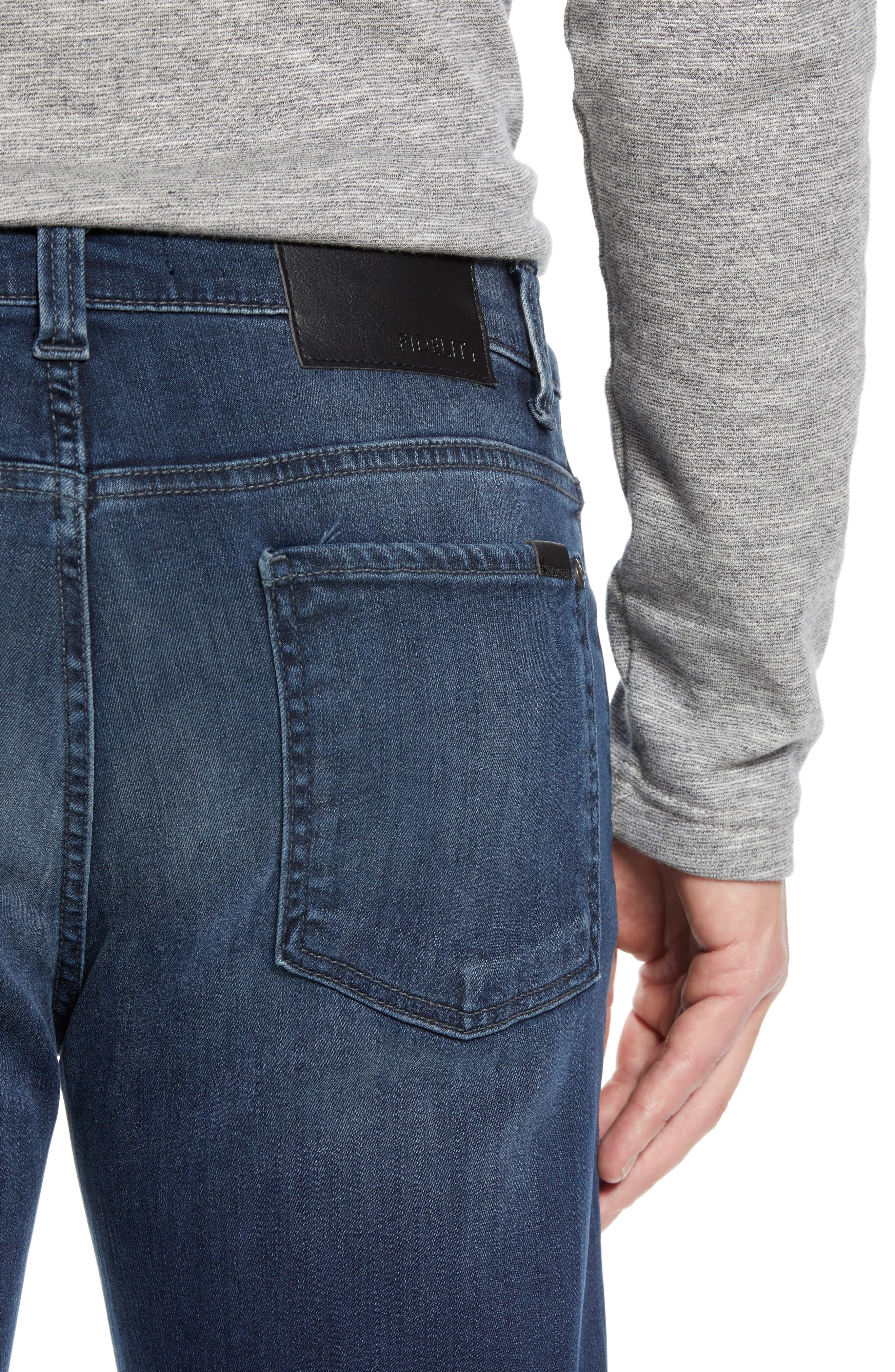 50-11 Relaxed Fit Jeans,                             Alternate thumbnail 4, color,                             BEL AIR BLUE