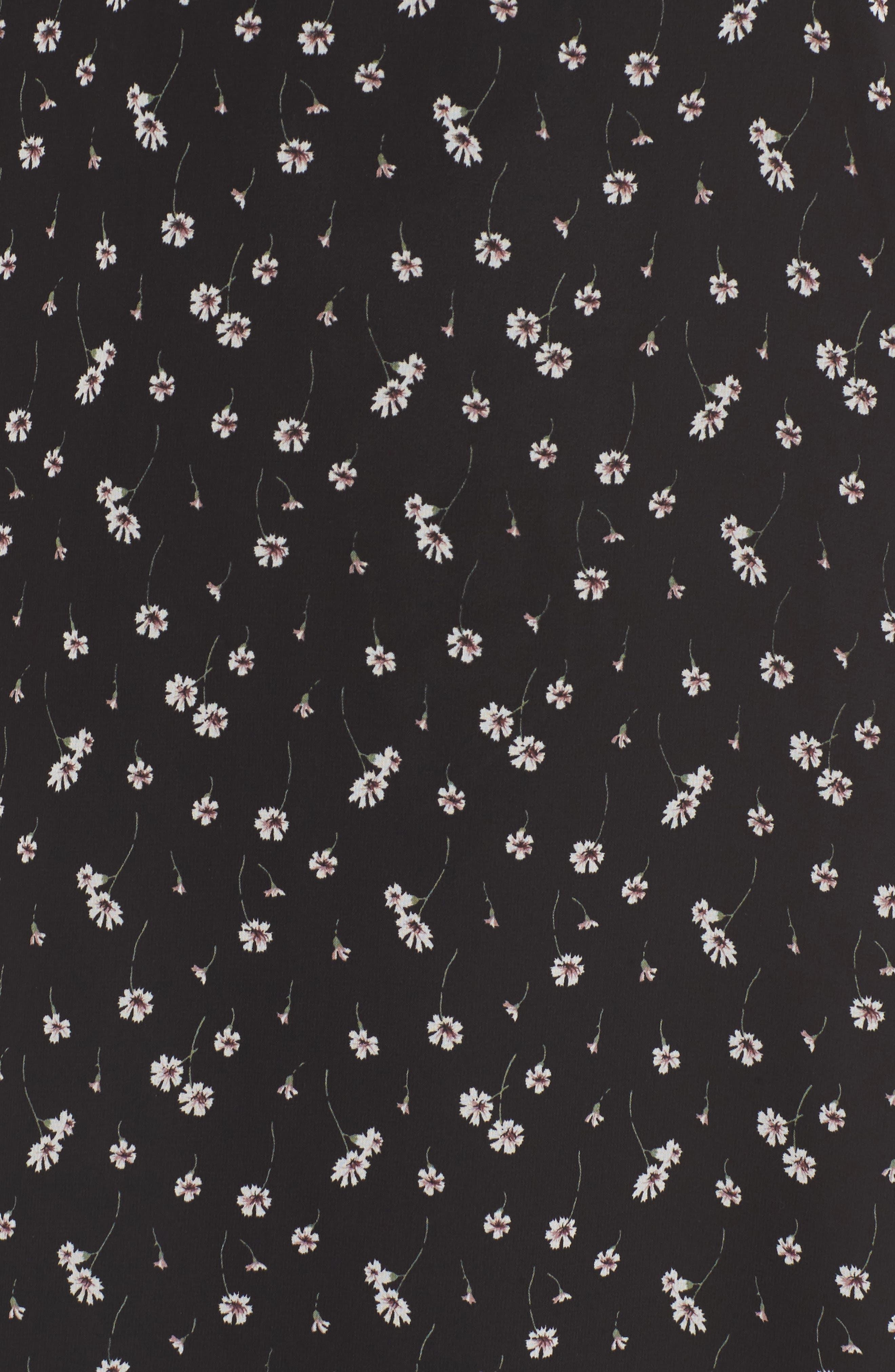 Leona Floral Print Midi Dress,                             Alternate thumbnail 5, color,