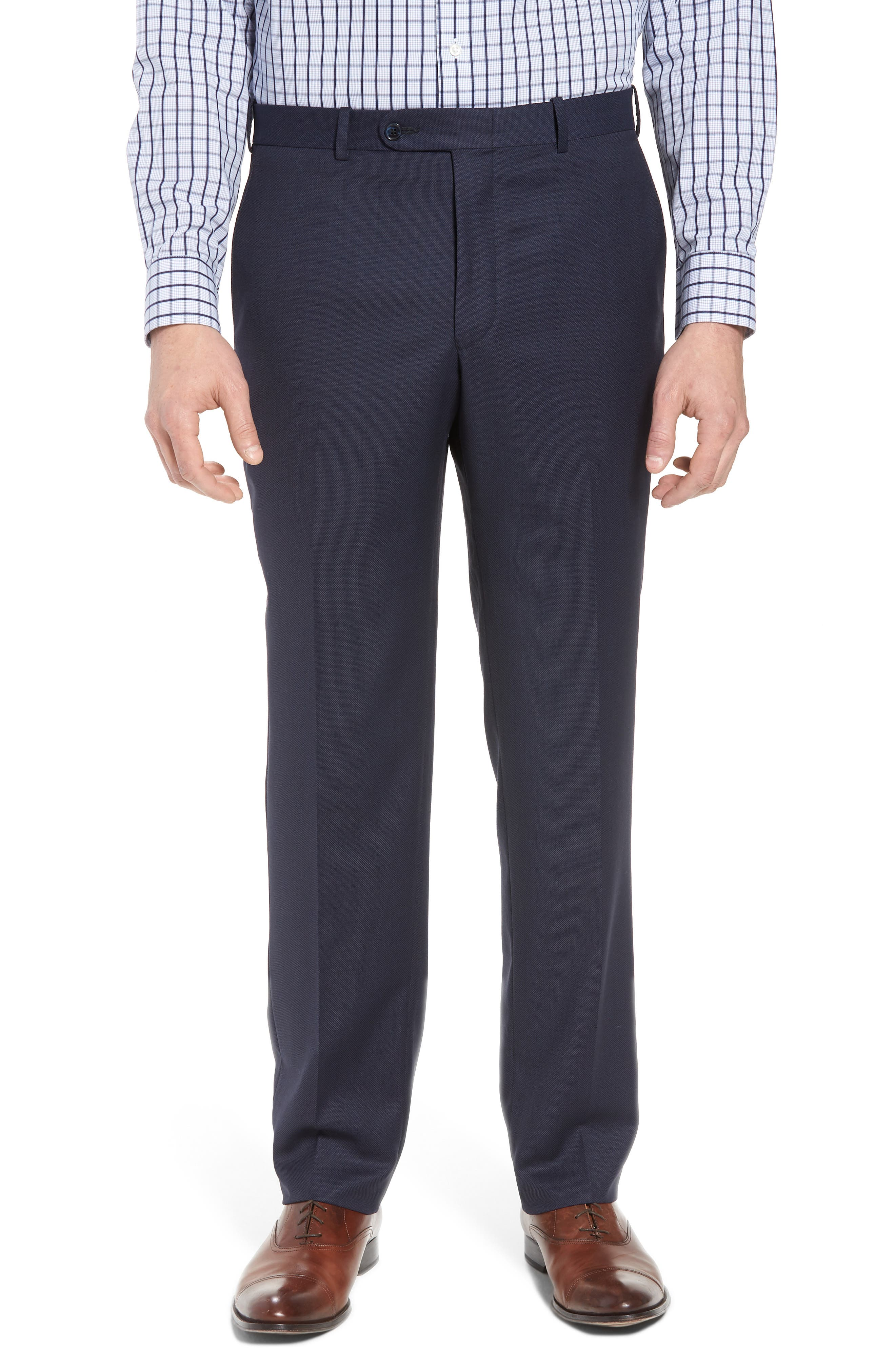 PETER MILLAR,                             Classic Fit Bird's Eye Wool Suit,                             Alternate thumbnail 6, color,                             400