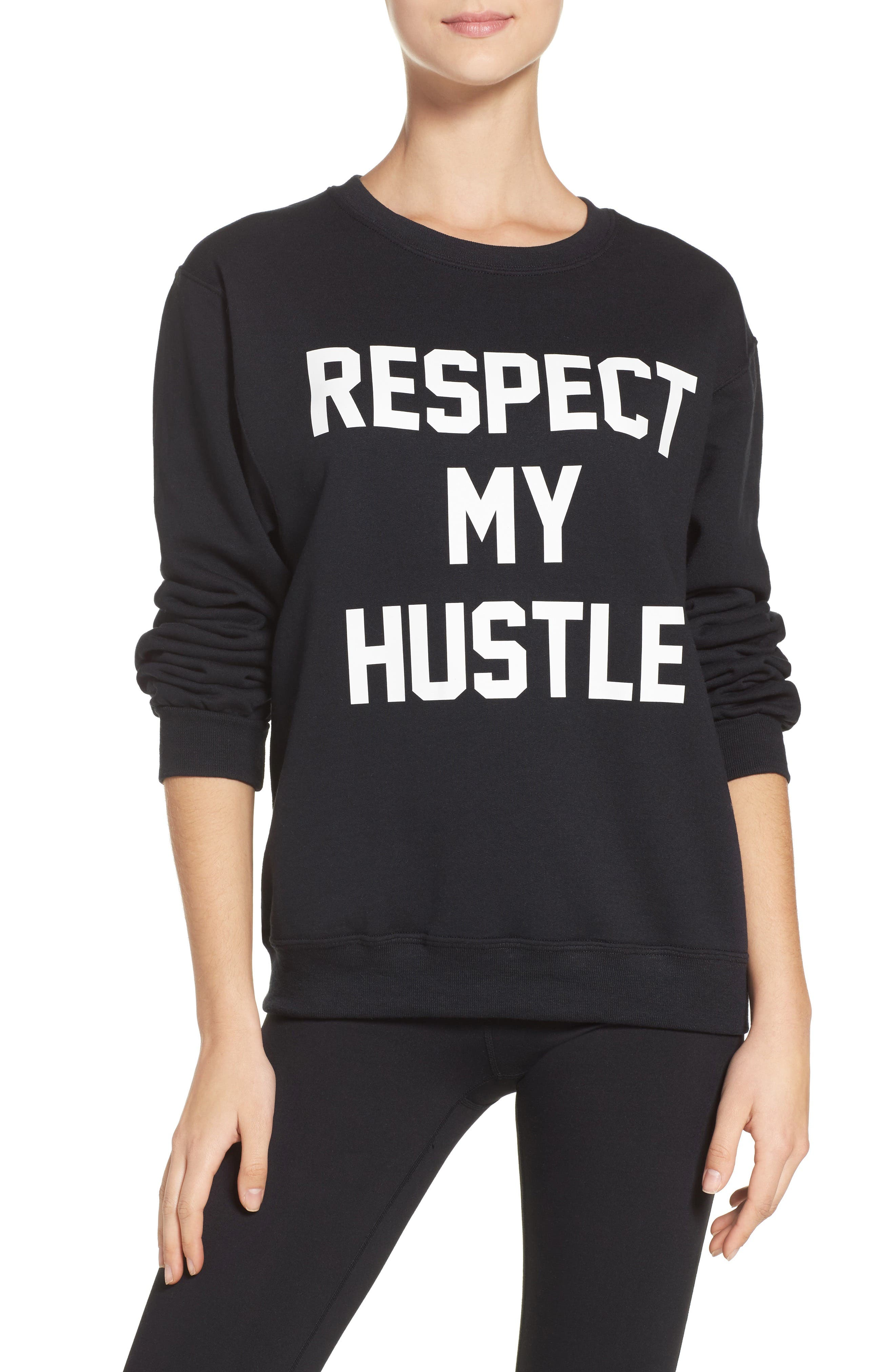 Respect My Hustle Sweatshirt,                             Main thumbnail 1, color,                             001