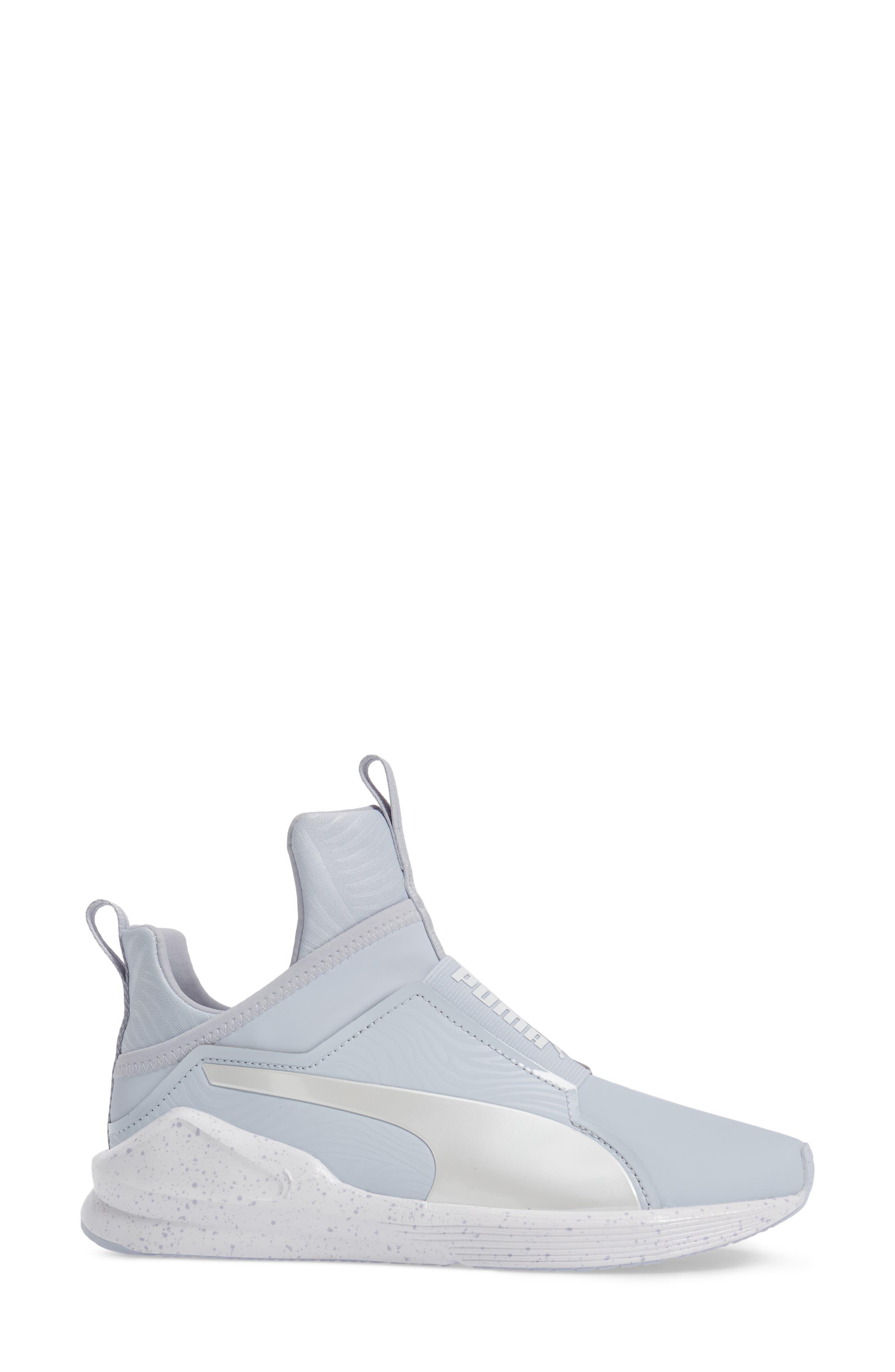 Fierce Bleached High Top Sneaker,                             Alternate thumbnail 3, color,                             400