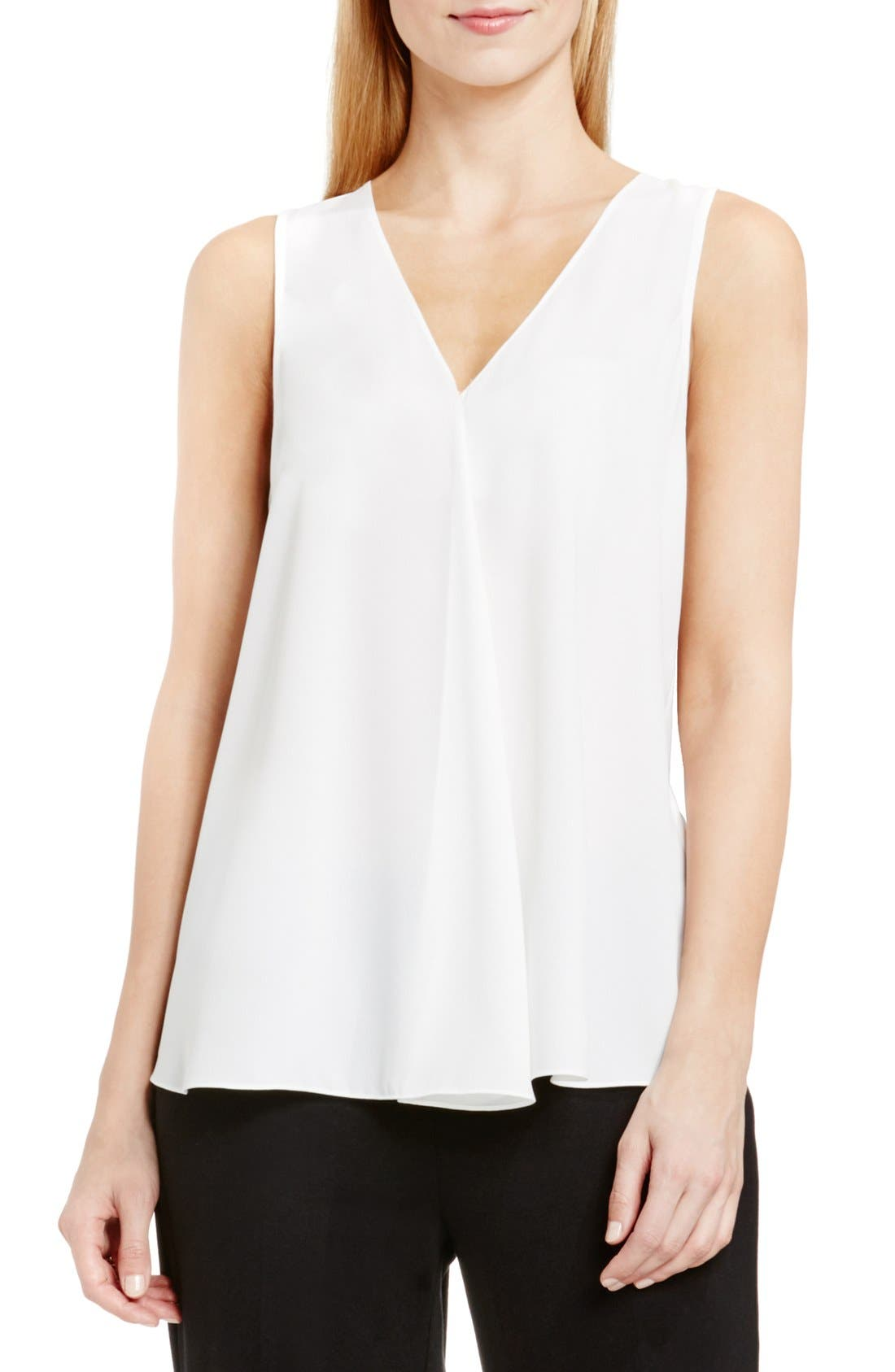 Drape Front V-Neck Sleeveless Blouse,                             Main thumbnail 6, color,