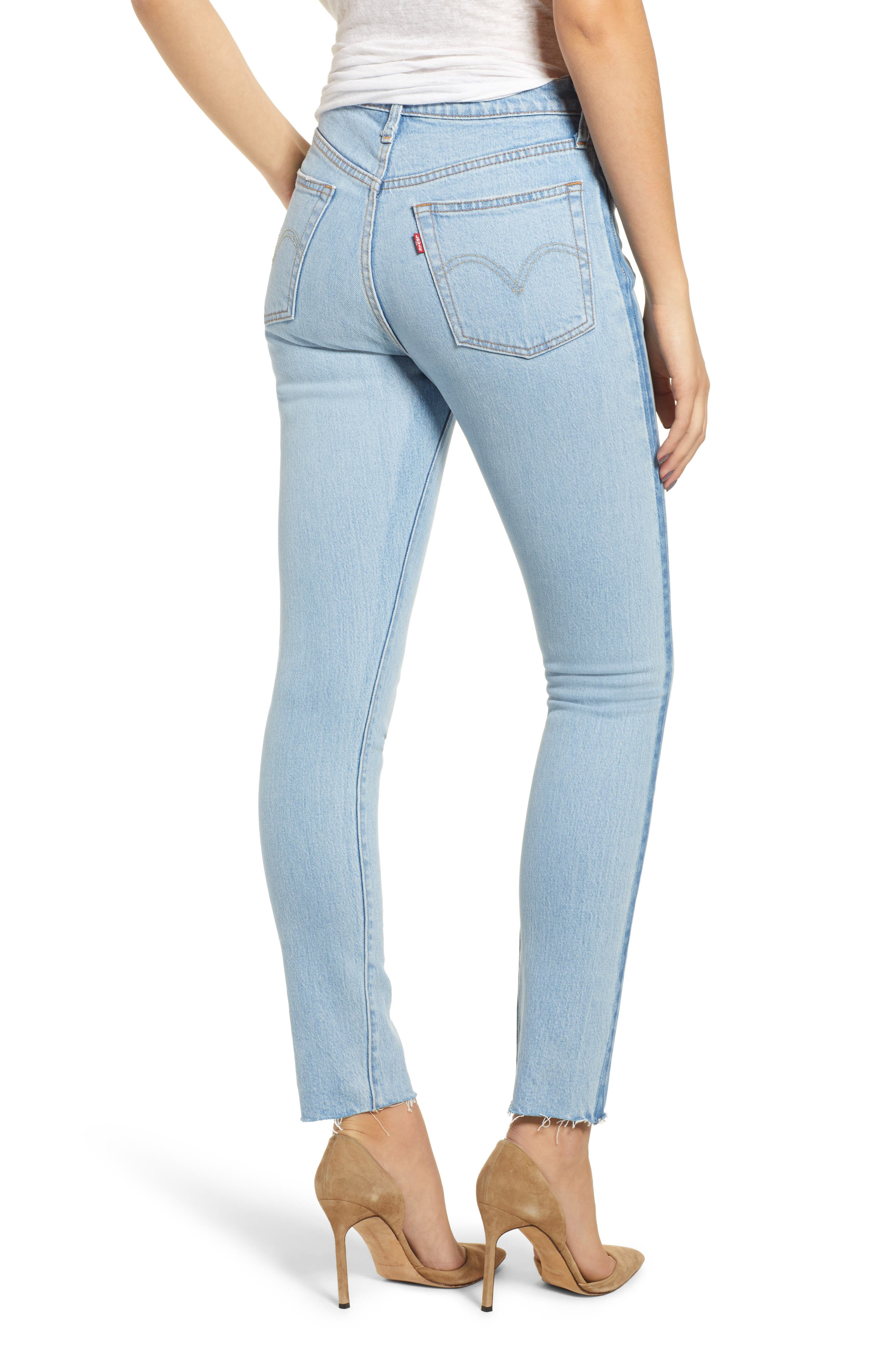 501<sup>®</sup> High Waist Skinny Jeans,                             Alternate thumbnail 2, color,                             SMARTY