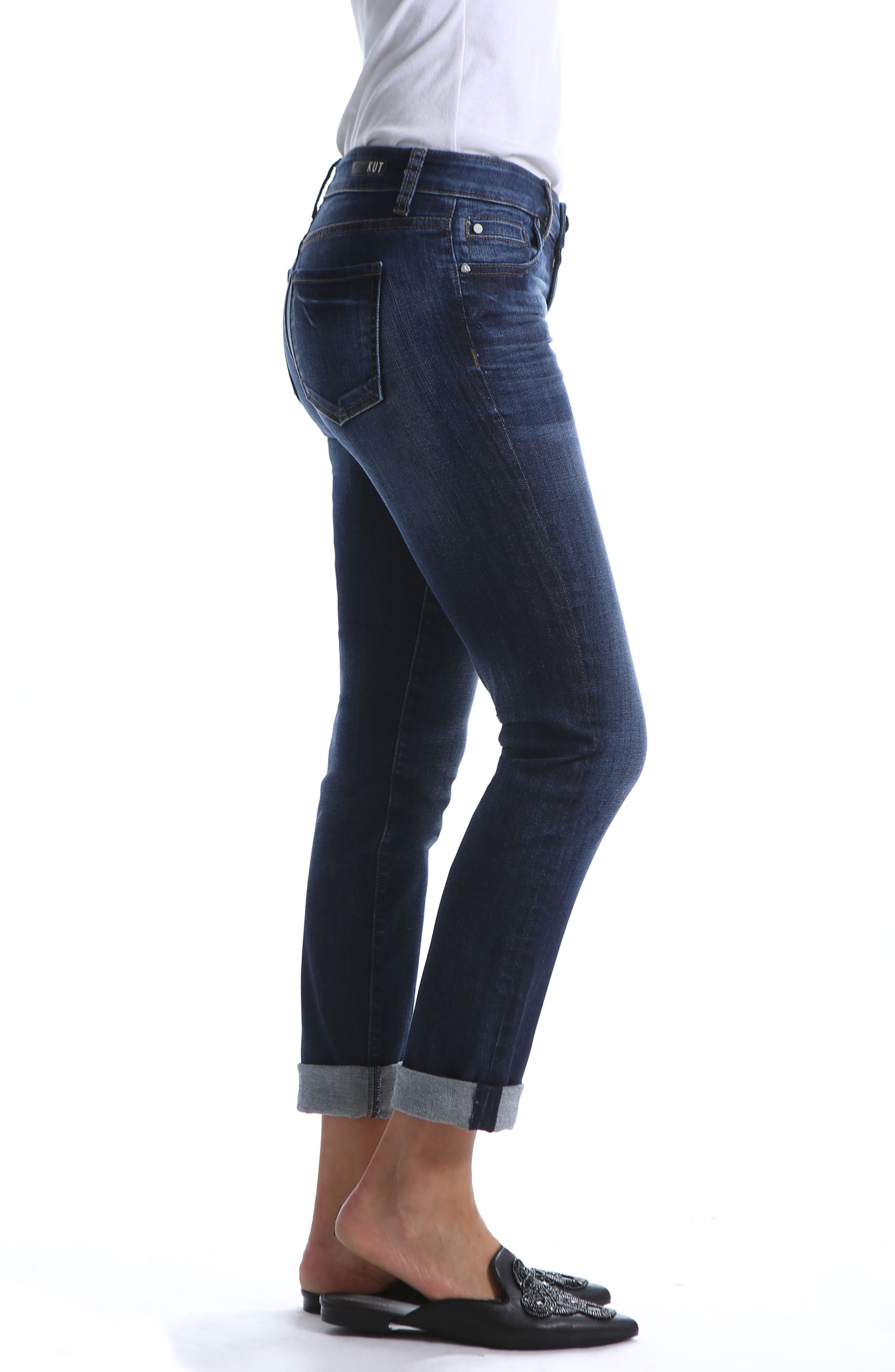 Catherine Distressed Boyfriend Jeans,                             Alternate thumbnail 3, color,                             400