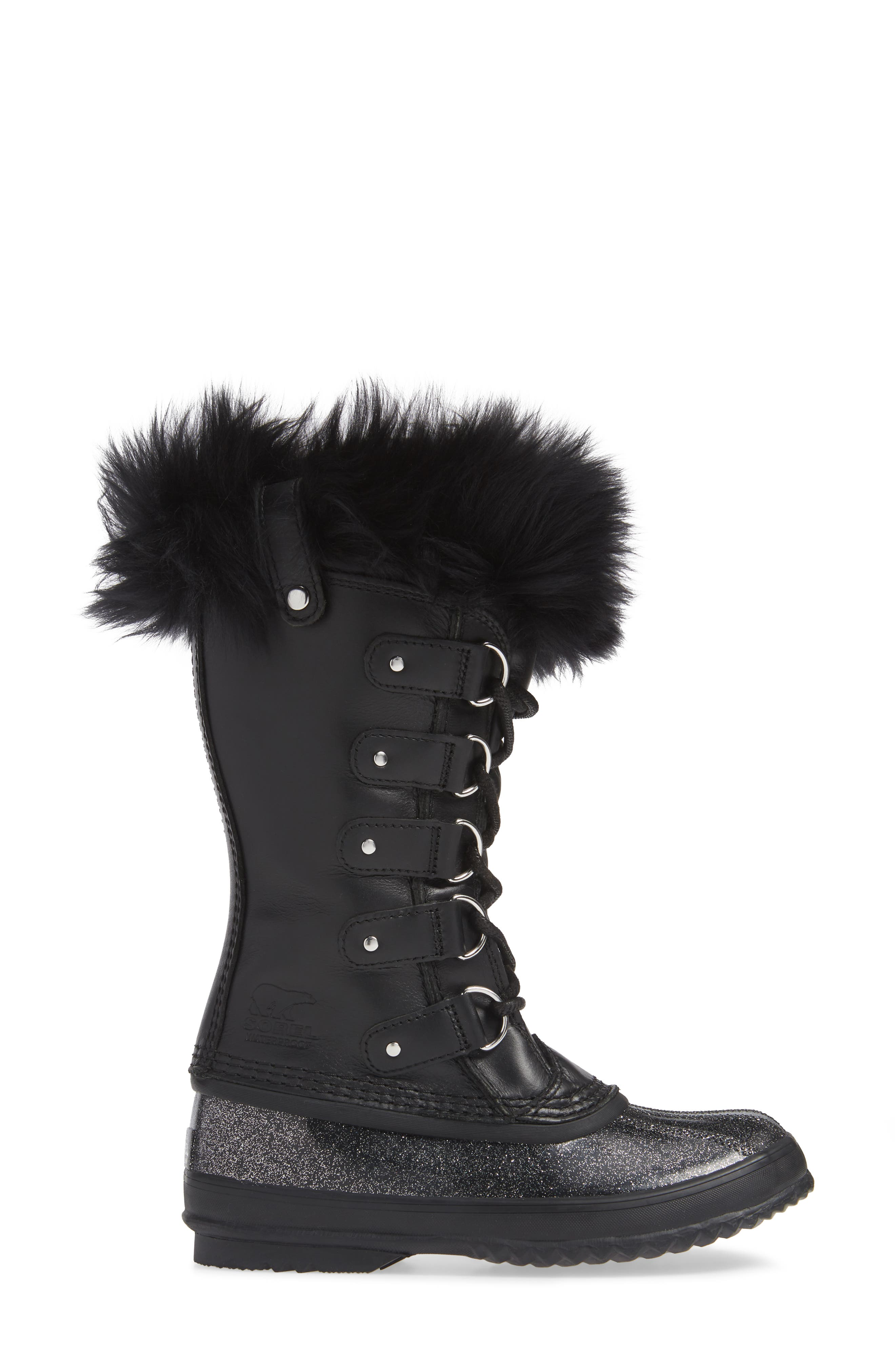 Joan of Arctic<sup>™</sup> Lux Waterproof Winter Boot with Genuine Shearling,                             Alternate thumbnail 3, color,                             010