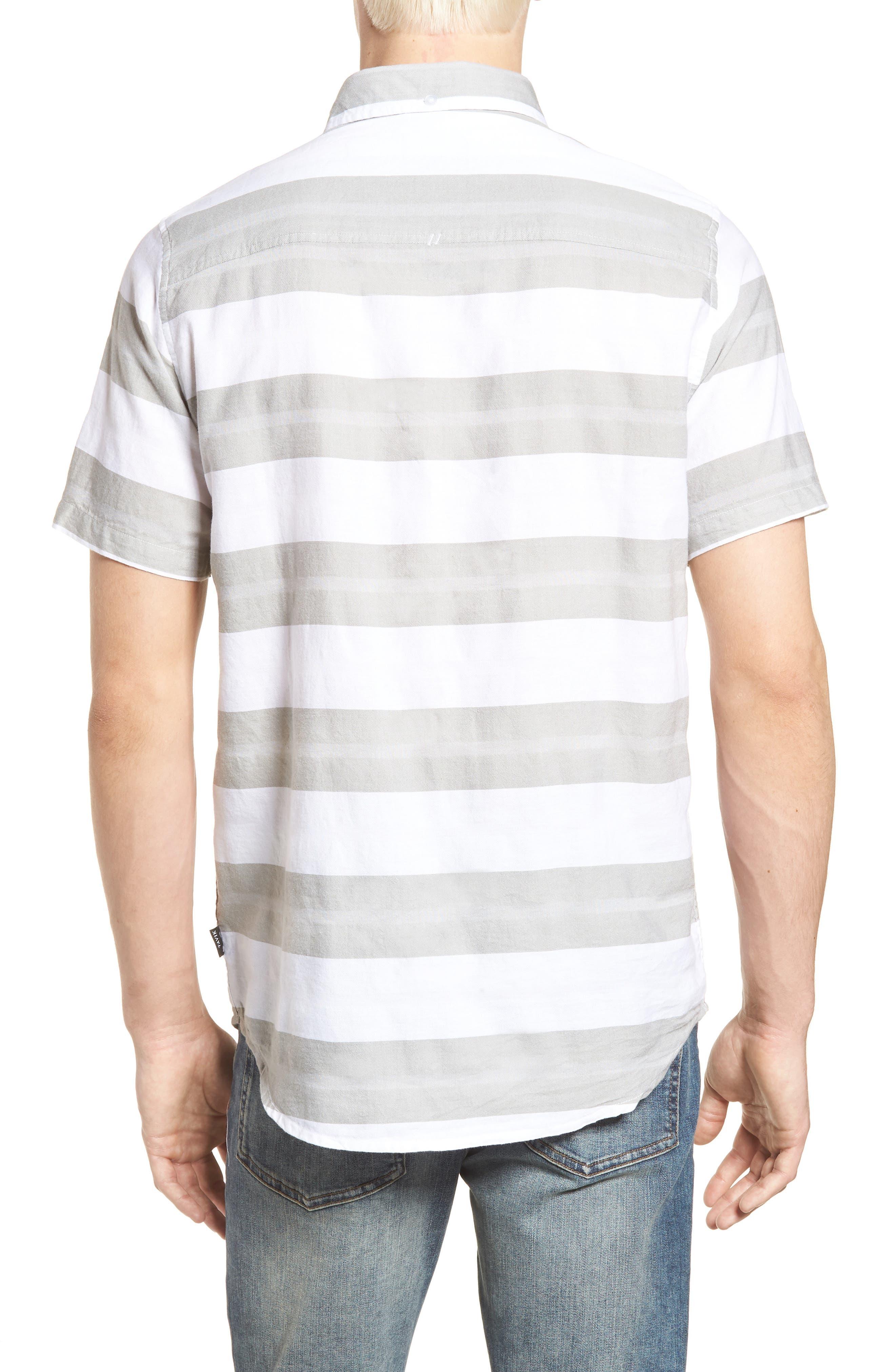 Dobson Woven Shirt,                             Alternate thumbnail 2, color,                             WHITE/SMOKE STRIPE
