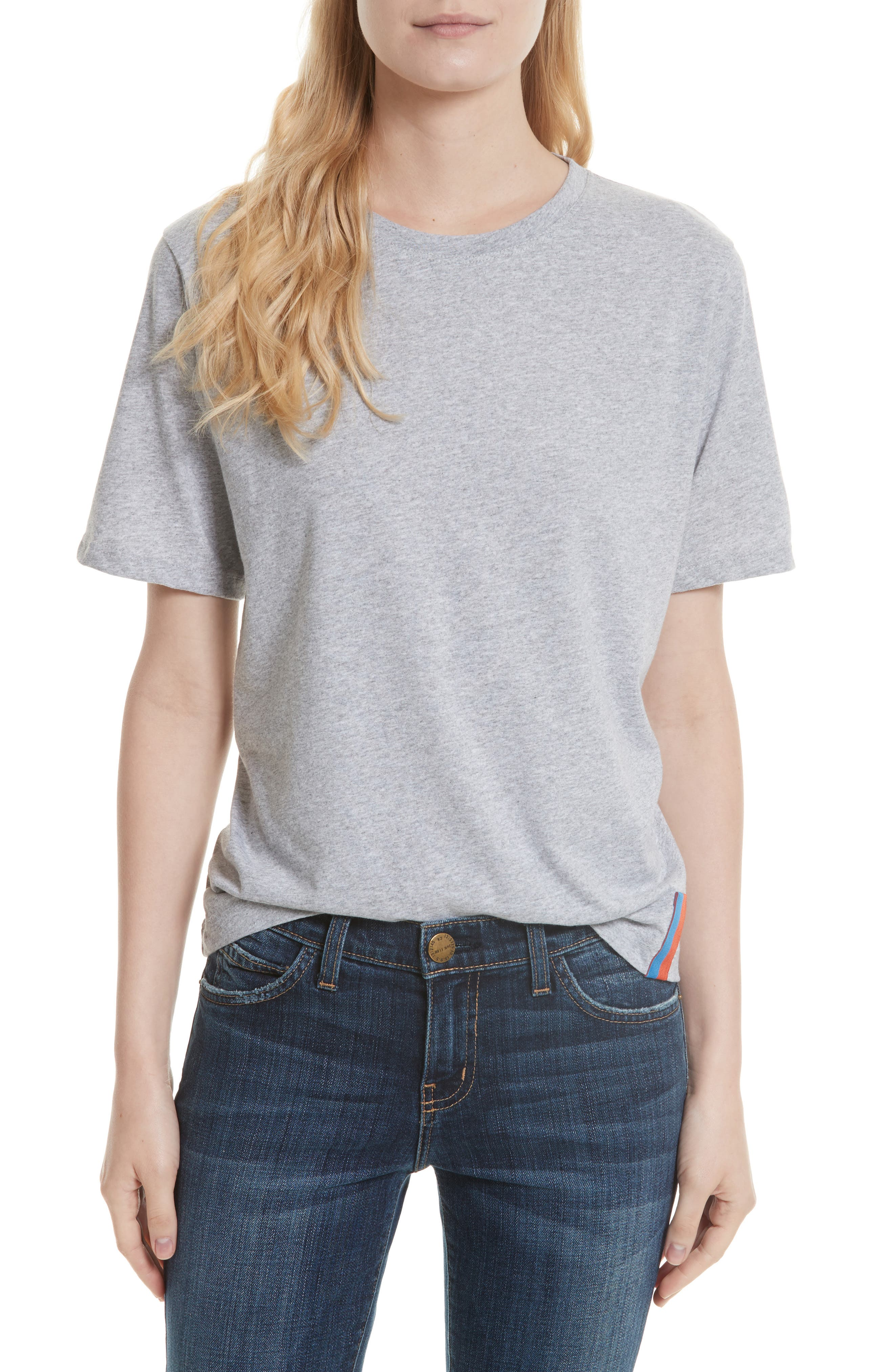 The Modern Cotton Tee,                             Main thumbnail 1, color,                             HEATHER GREY