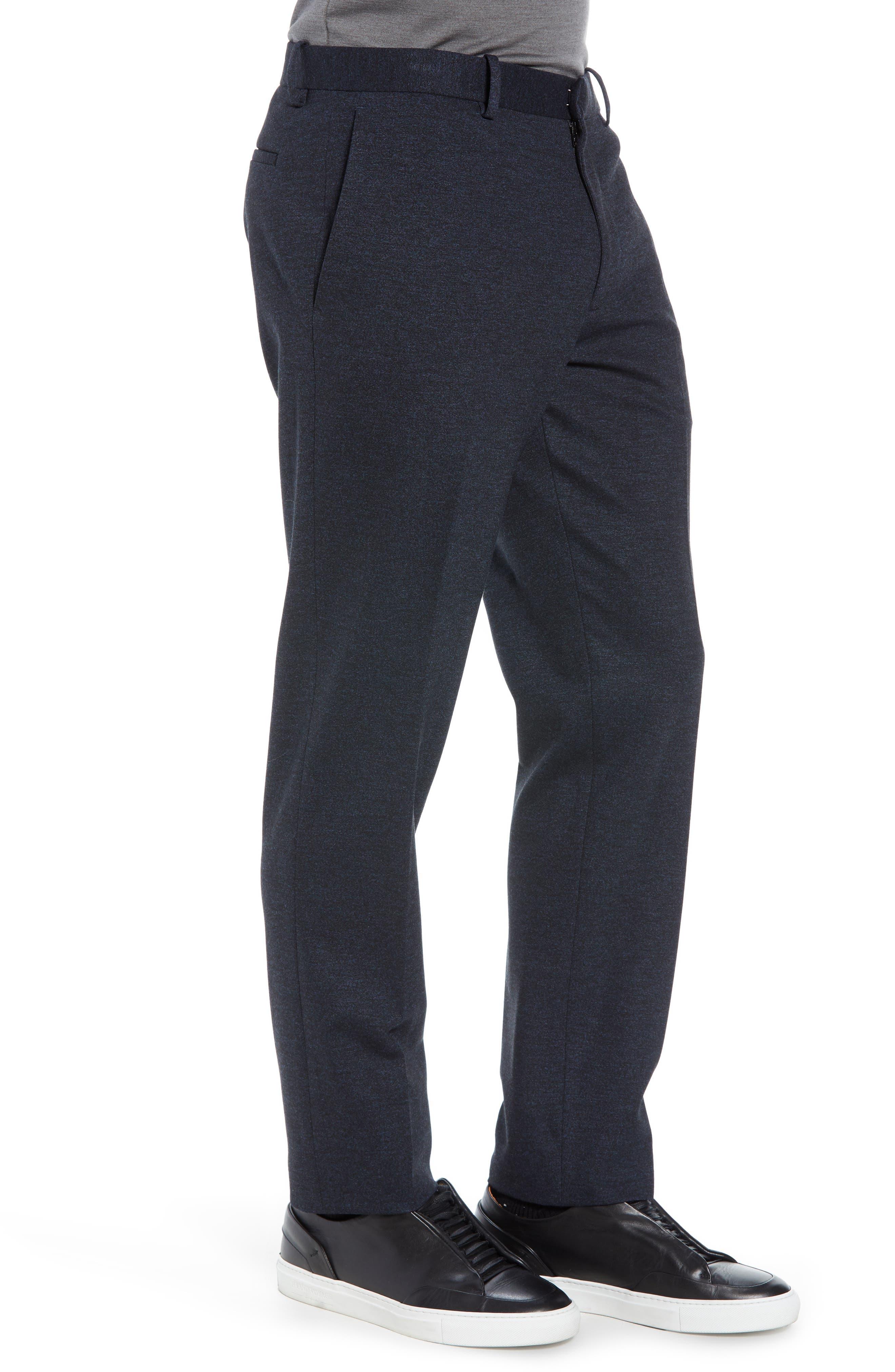 Payton Marled Ponte Trousers,                             Alternate thumbnail 3, color,                             ECLIPSE MELANGE