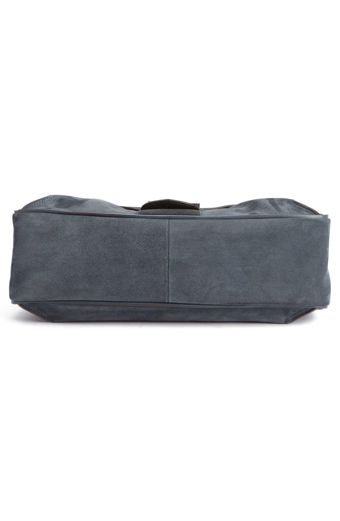 'Medium Lexa' Suede Shoulder Bag,                             Alternate thumbnail 5, color,                             043