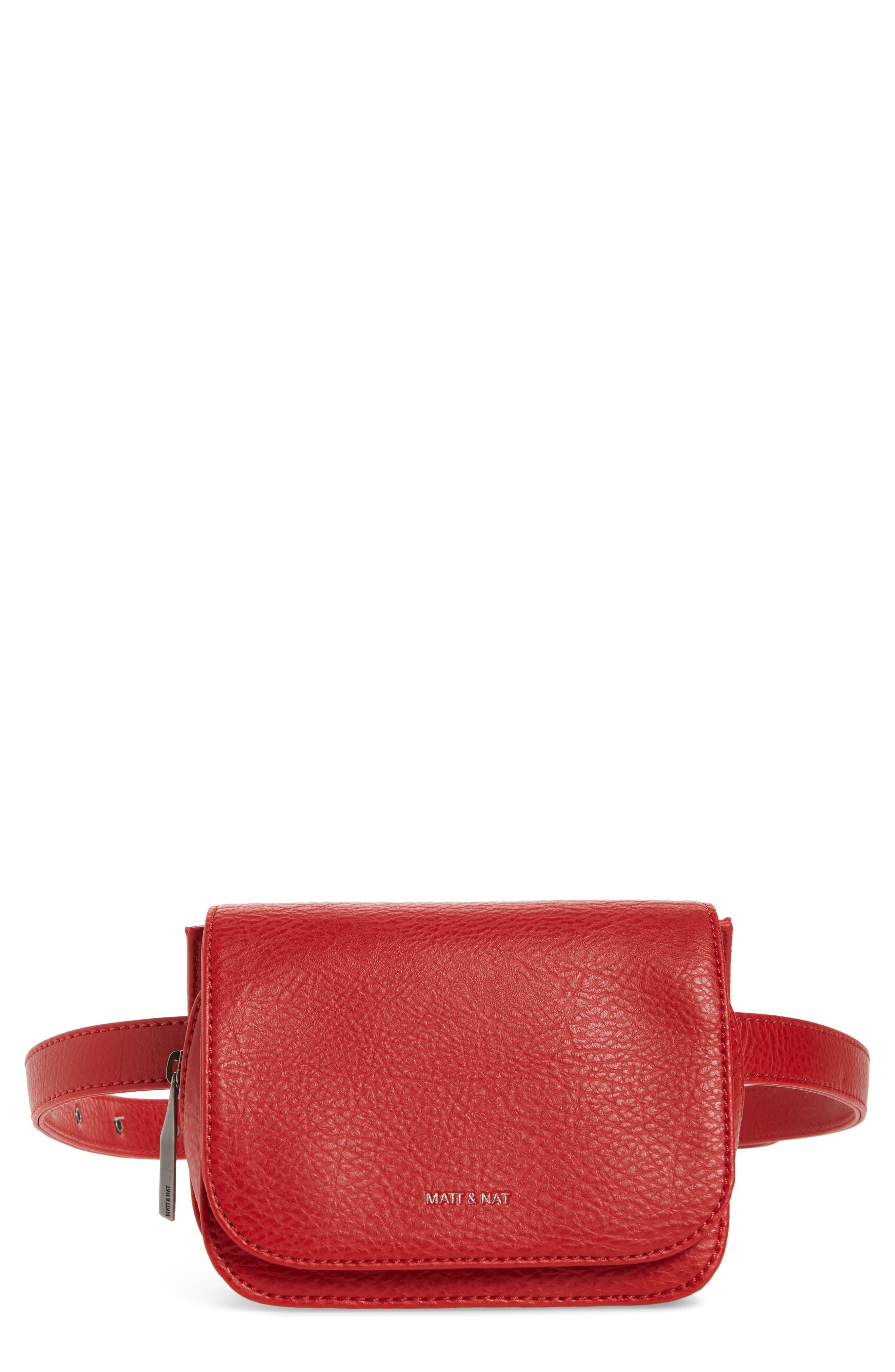 Matt & Nat Park Faux Leather Belt Bag - Red