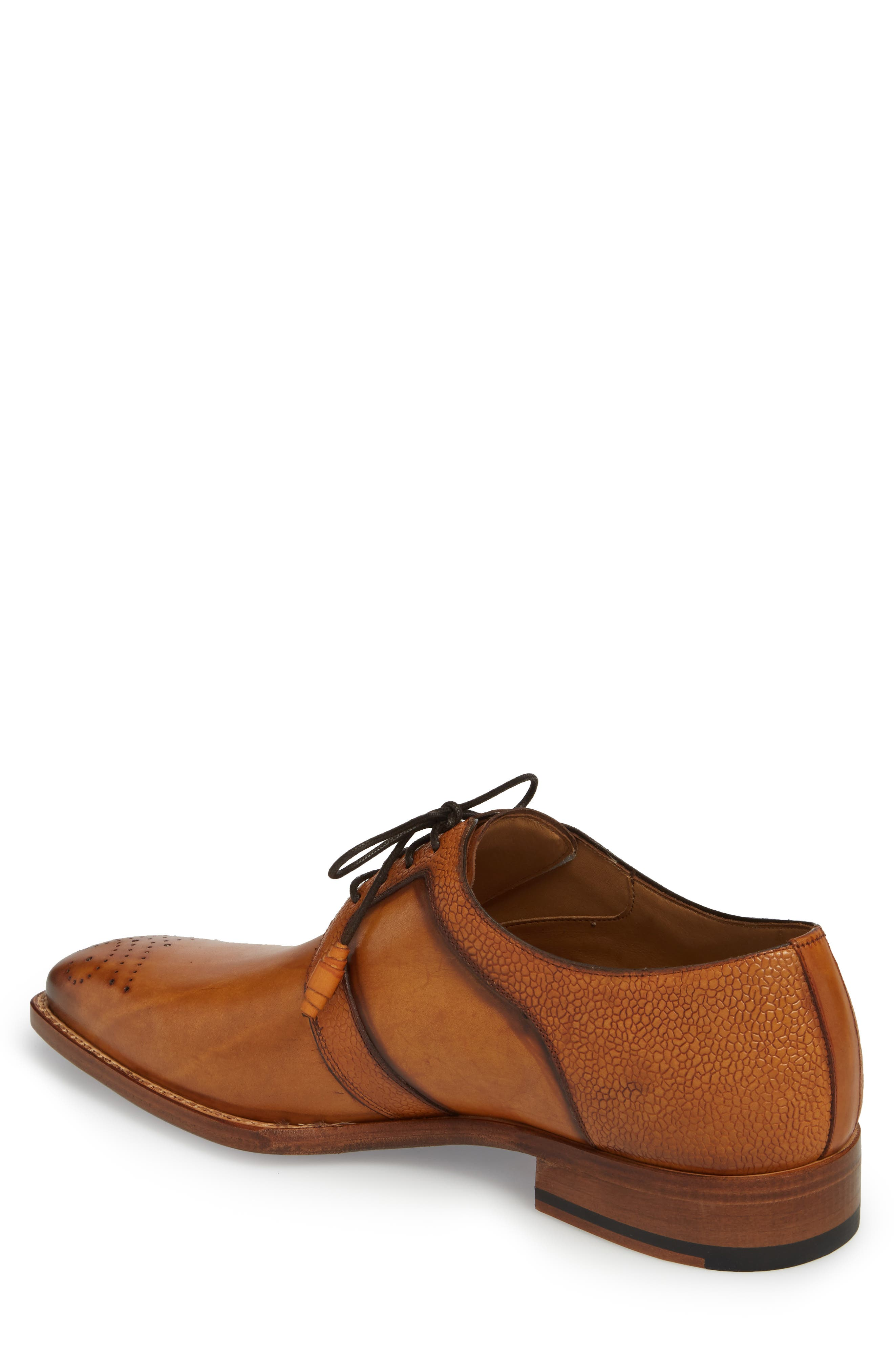 Saturno Medallion Toe Derby,                             Alternate thumbnail 2, color,                             TAN LEATHER