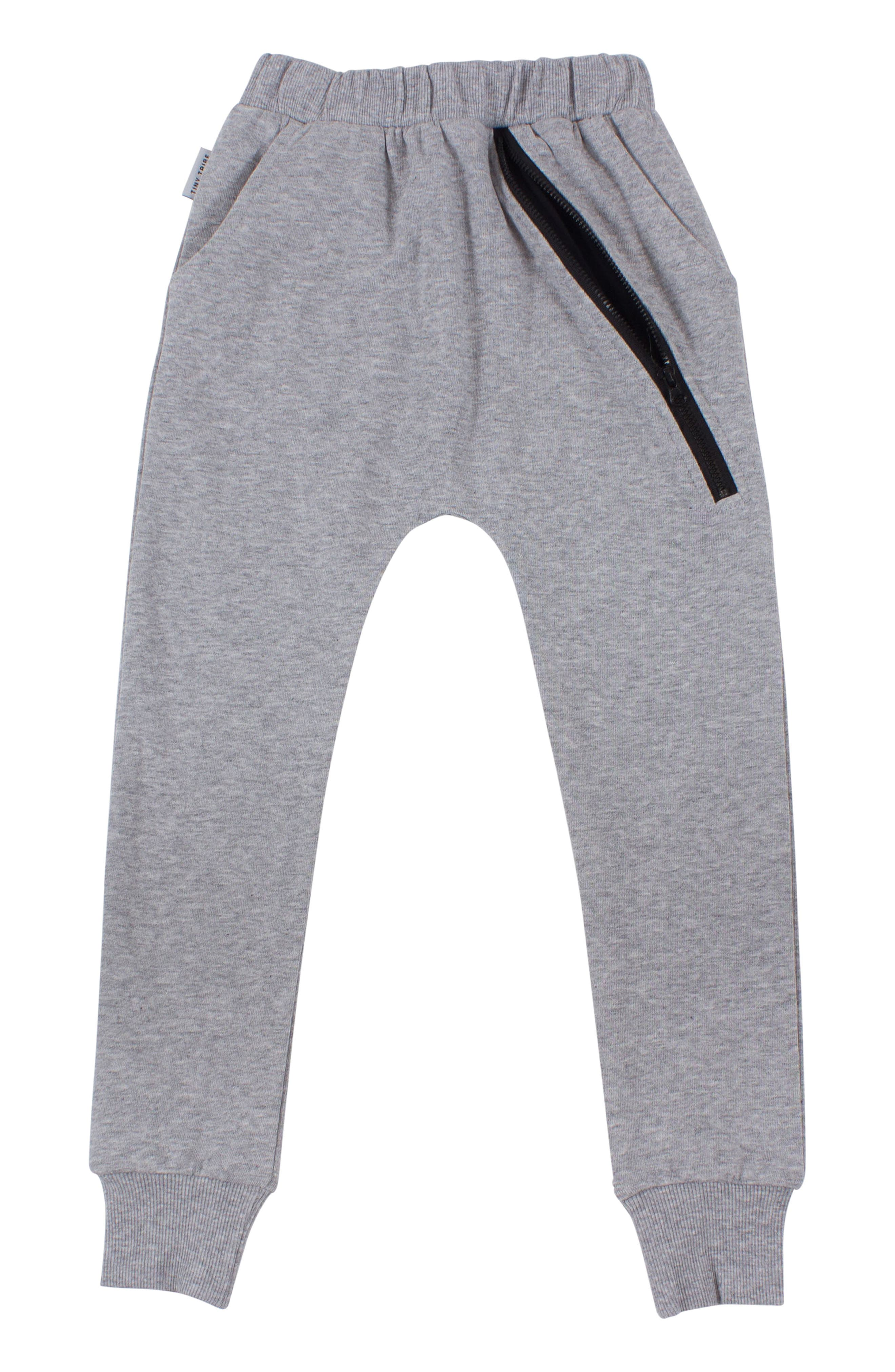 Zip Sweatpants,                         Main,                         color, GREY MARL