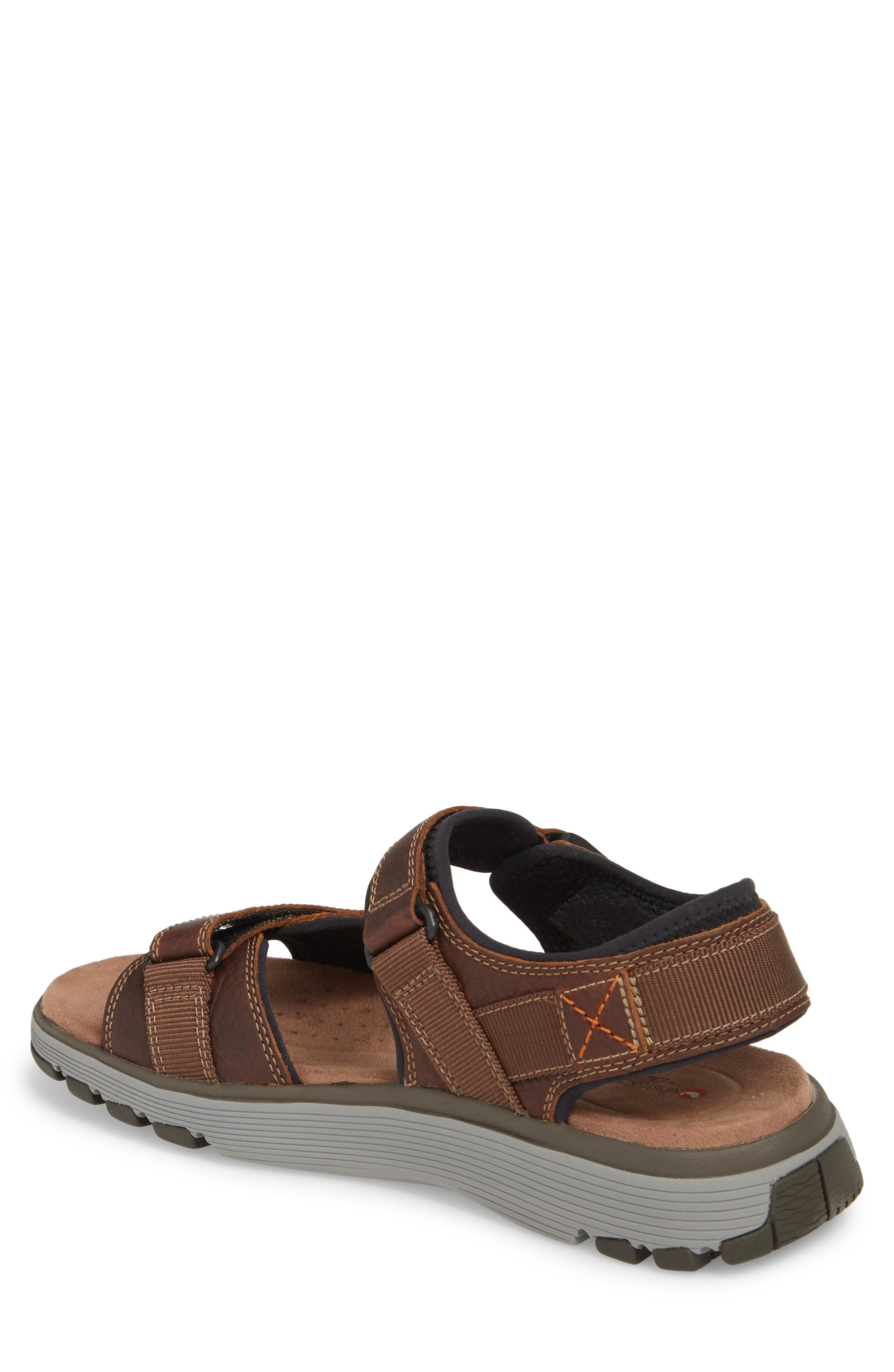 CLARKS<SUP>®</SUP>,                             Originals Un Trek Part Sport Sandal,                             Alternate thumbnail 2, color,                             DARK TAN LEATHER