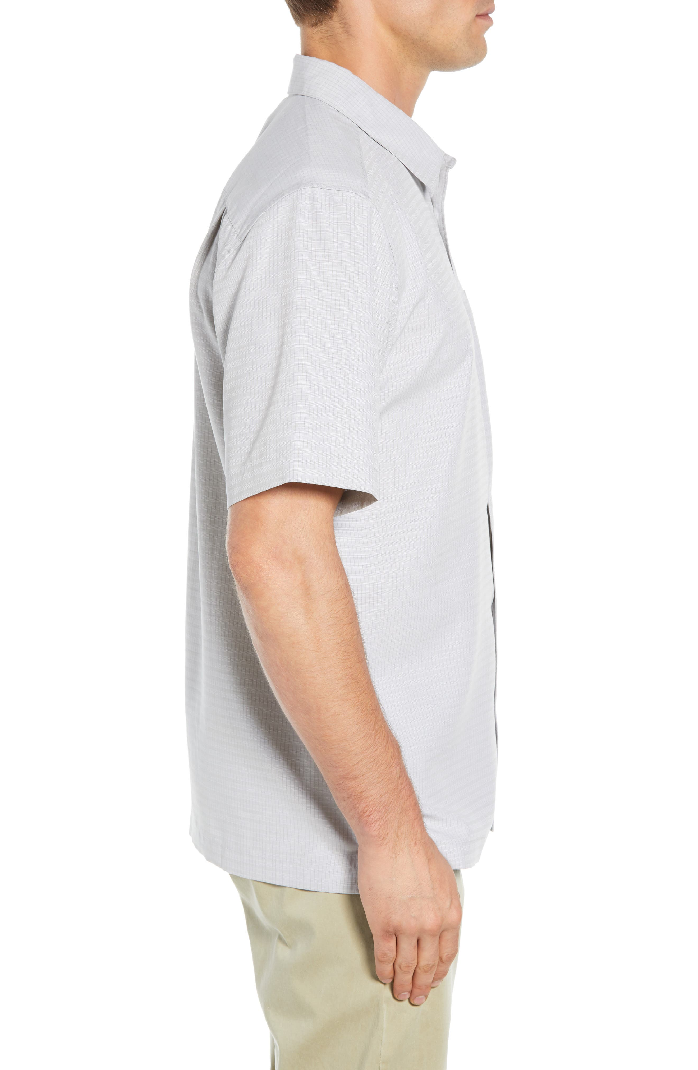 Centinela Regular Fit Camp Shirt,                             Alternate thumbnail 4, color,                             DRIZZLE