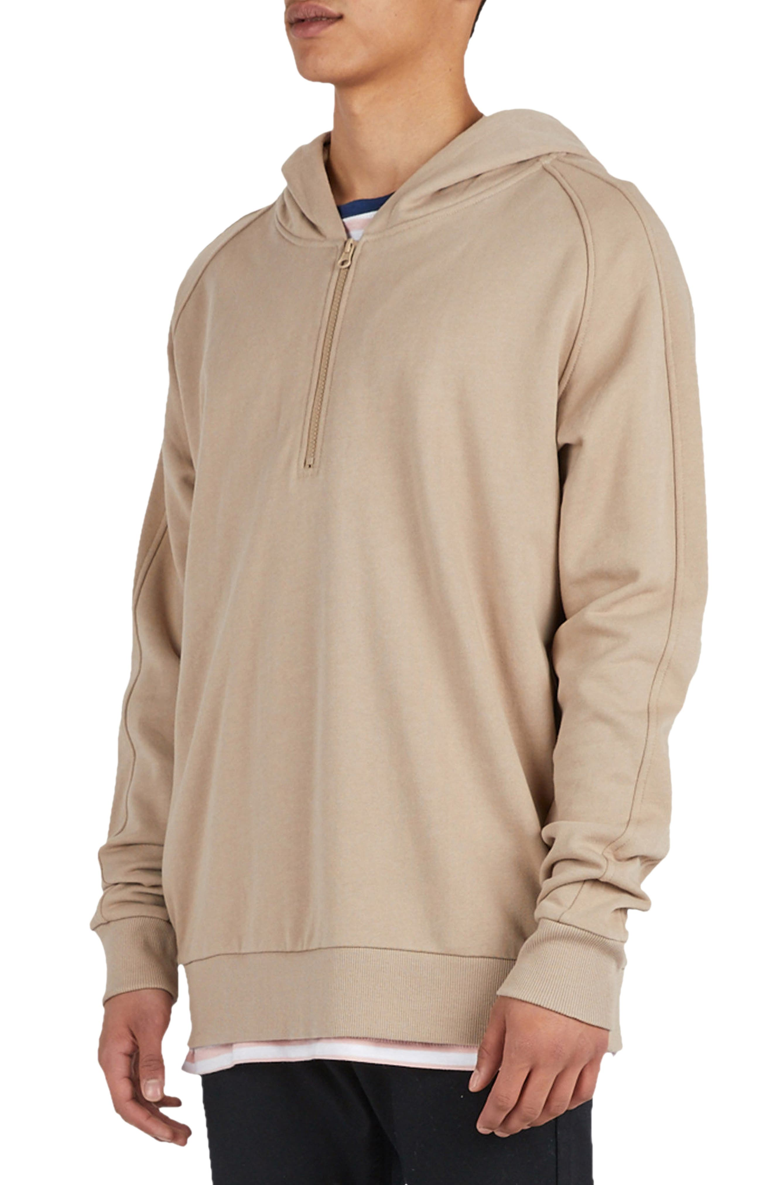 Olympic Zip Pullover Hoodie,                             Alternate thumbnail 7, color,                             260