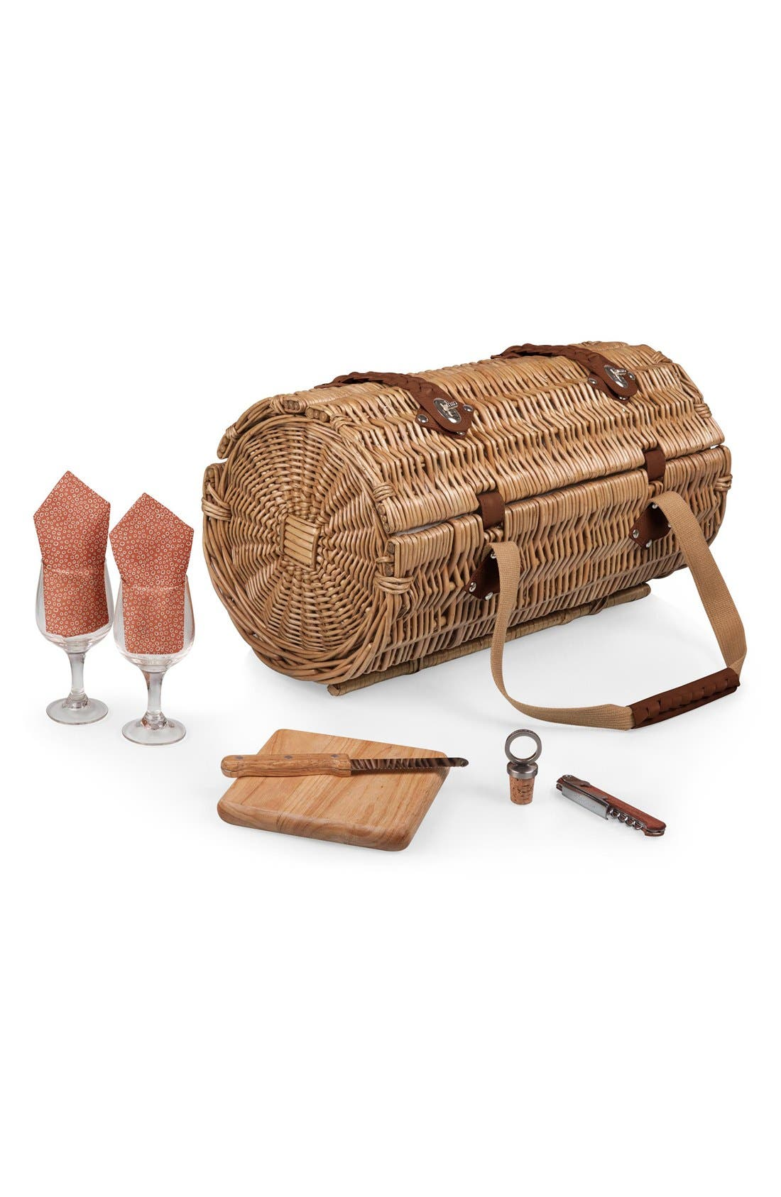 'Verona' Wicker Picnic Basket,                             Alternate thumbnail 2, color,                             400