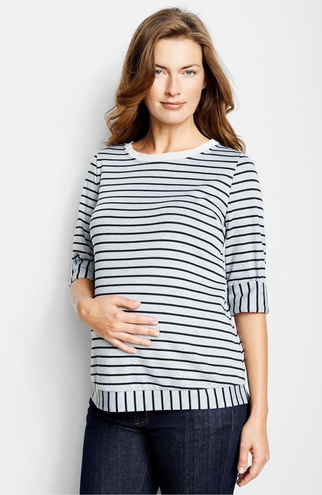 'Sailor' Maternity Top,                         Main,                         color, 001