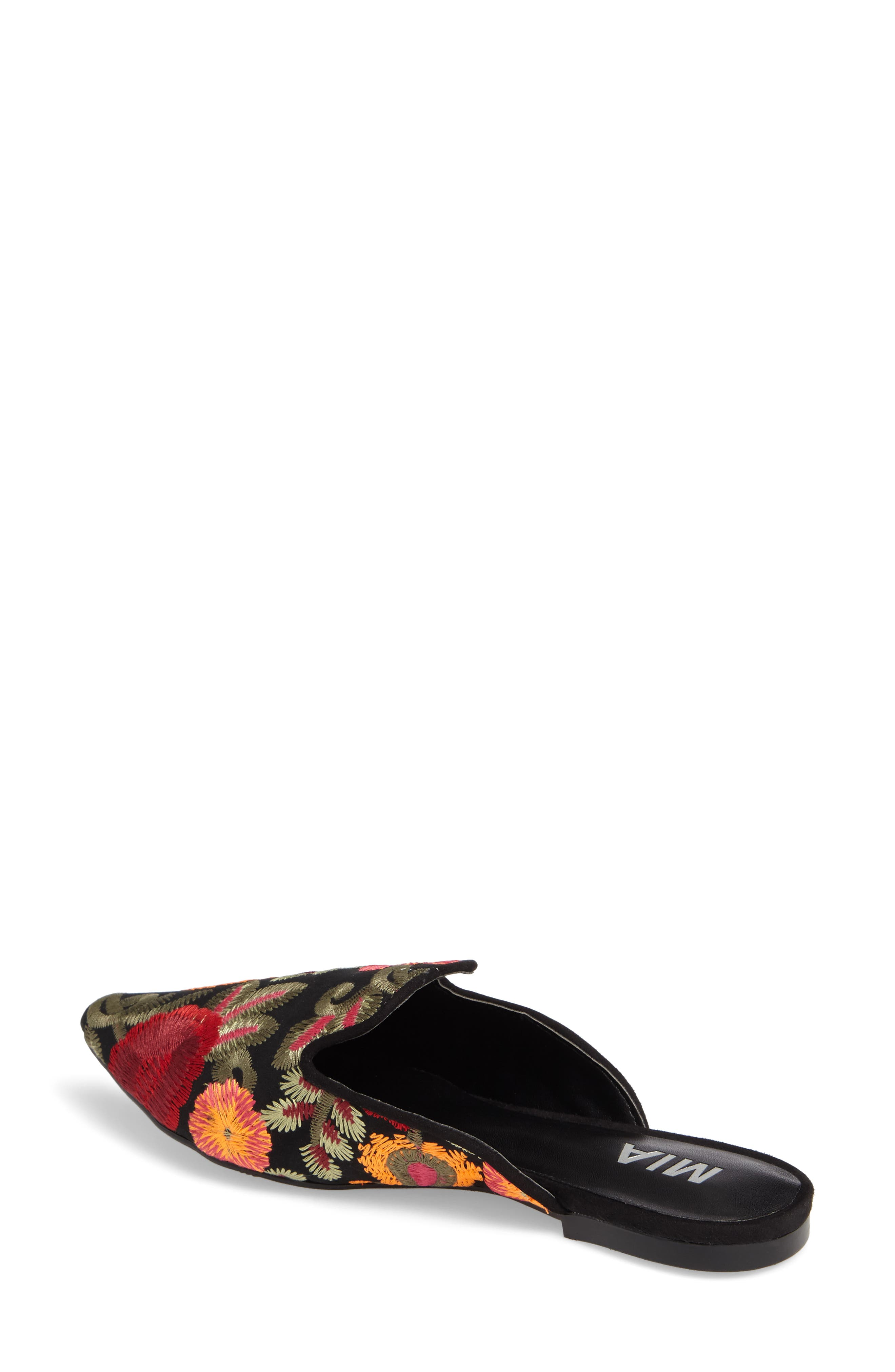 Cameo Embroidered Mule,                             Alternate thumbnail 2, color,                             001