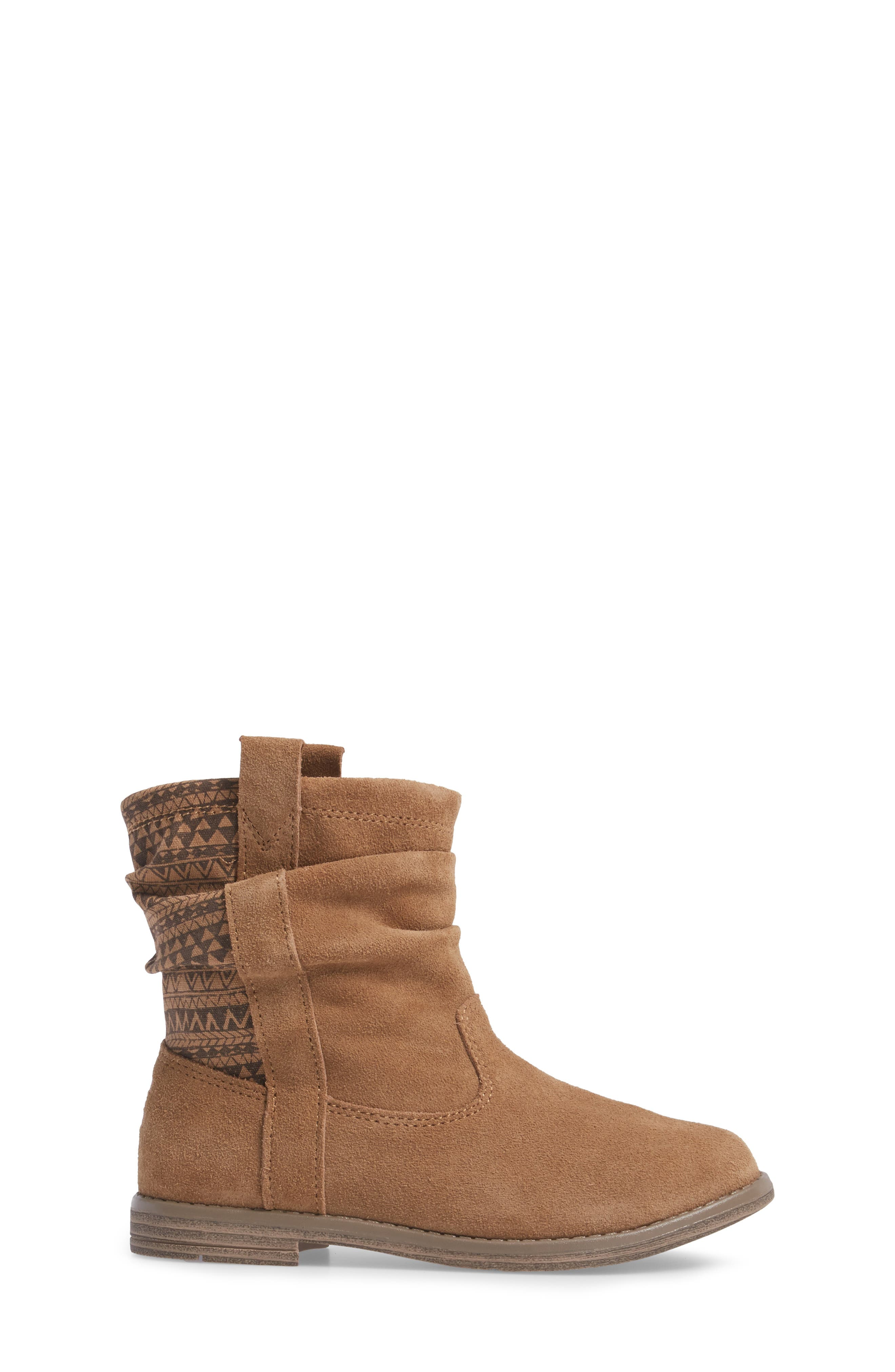 Laurel Slouchy Bootie,                             Alternate thumbnail 3, color,                             TOFFEE SUEDE