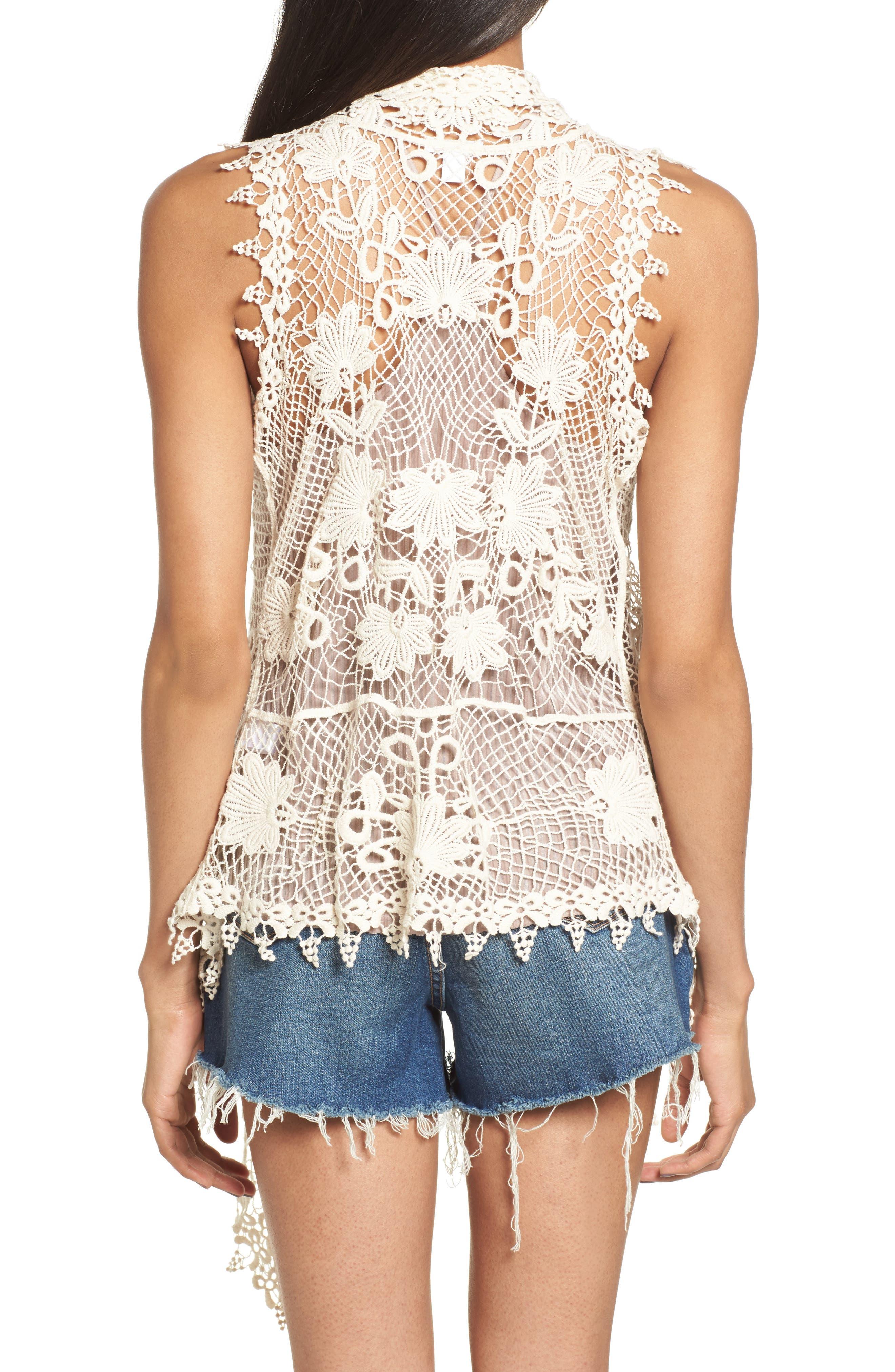 Crochet Cotton Vest,                             Alternate thumbnail 2, color,                             900
