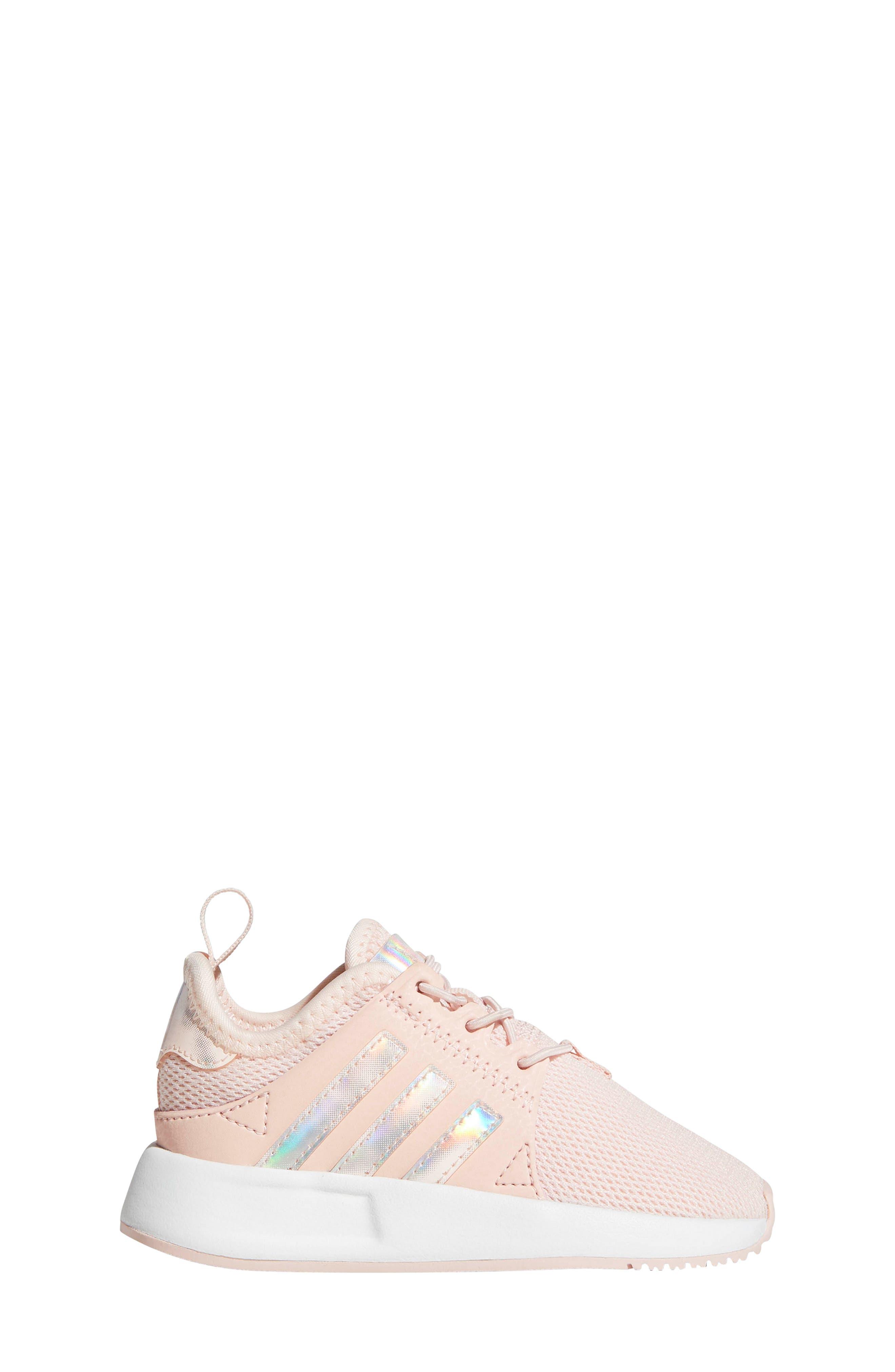 X_PLR Sneaker,                             Alternate thumbnail 6, color,                             ICE PINK/ WHITE